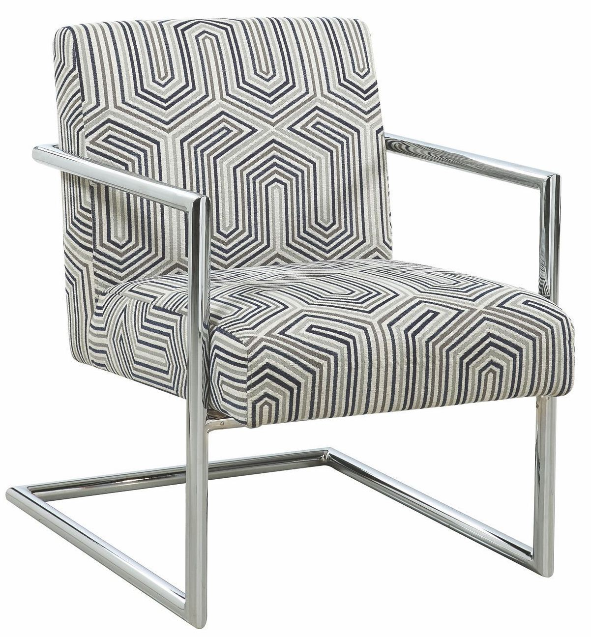 Coaster Gray And Blue Accent Chair By Scott Living
