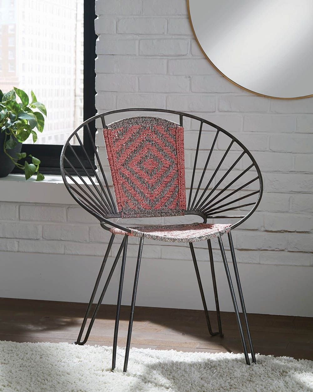Coaster Pink And Gray Accent Chair Set Of 2 Gray