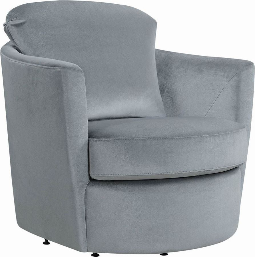 Kalosa Swivel Accent Chair: Coaster Gray Swivel Accent Chair