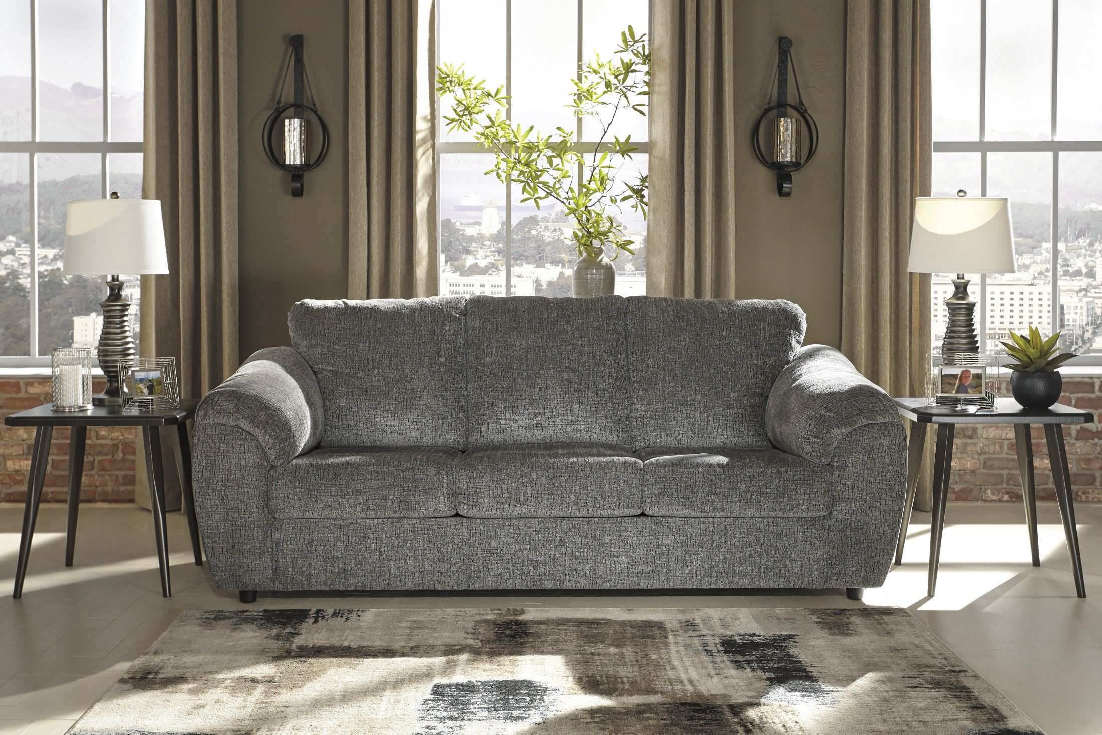 Azaline Slate Sofa 1stopbedrooms