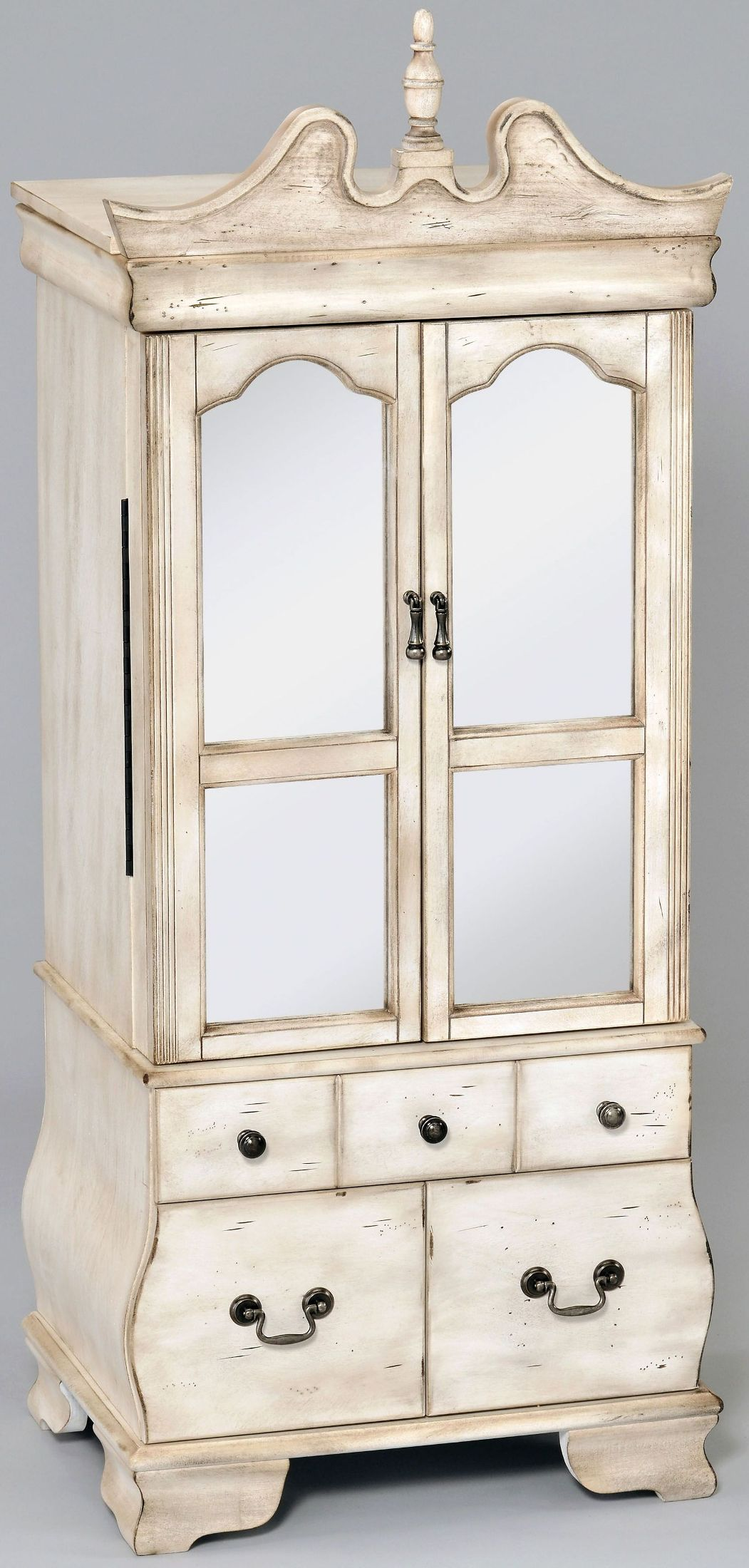 ACME Otis Antique White Jewelry Armoire - Otis Collection ...