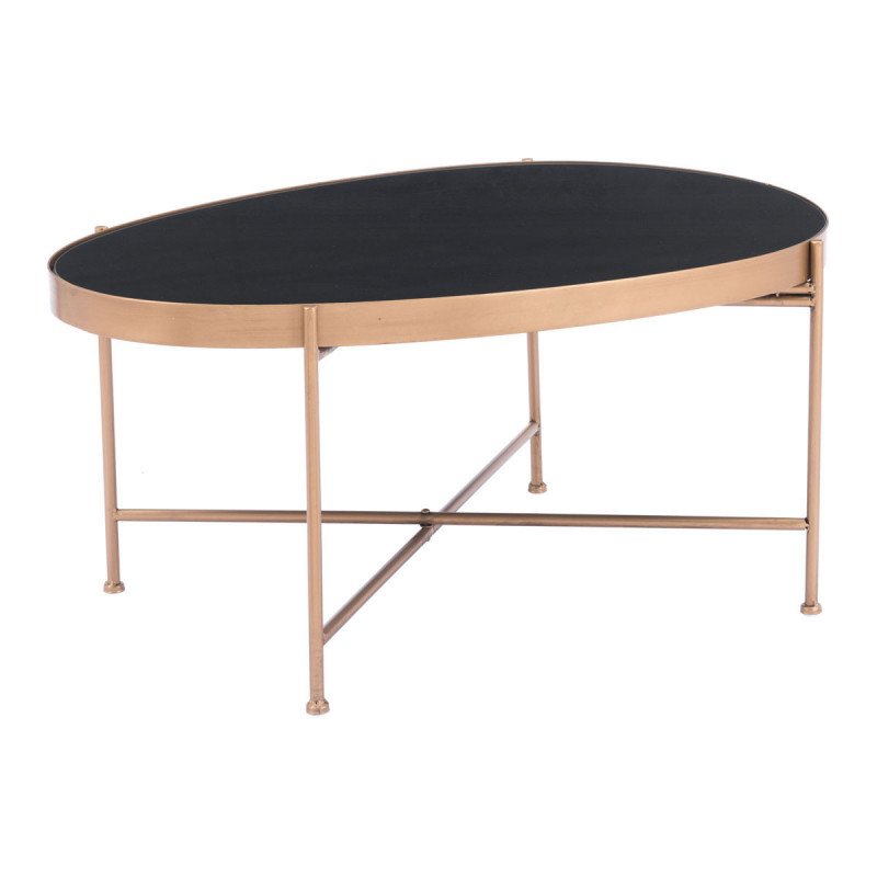 Zuo Modern Gotta Coffee Table Black & Gold A11546