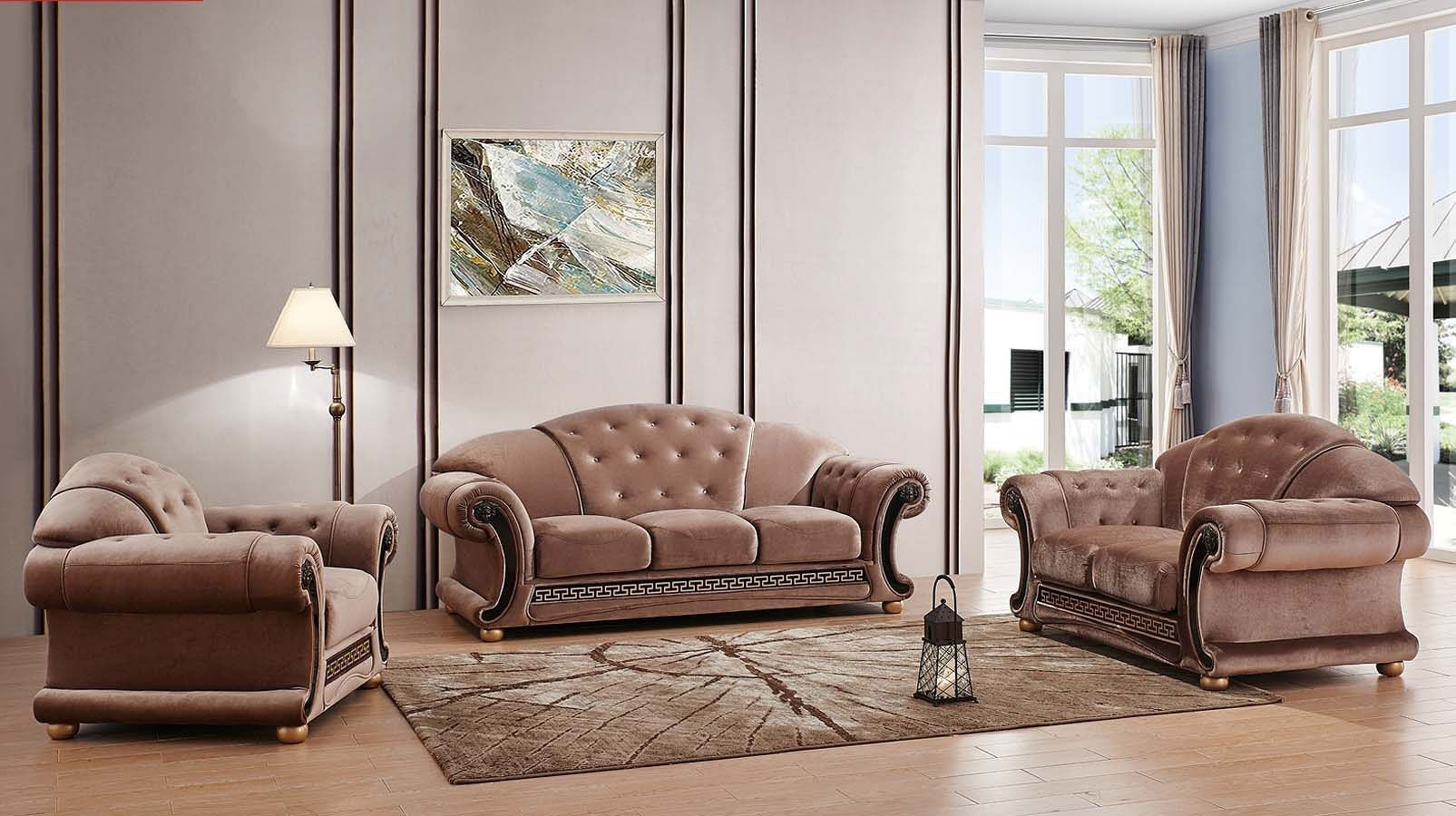 Esf apolo living room set microfiber apolo collection - Microfiber living room furniture sets ...