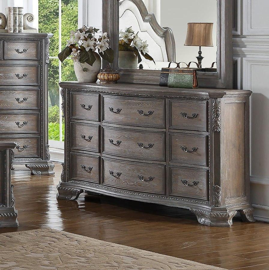 Crown Mark Sheffield Dresser (Antique Grey) - Sheffield ...