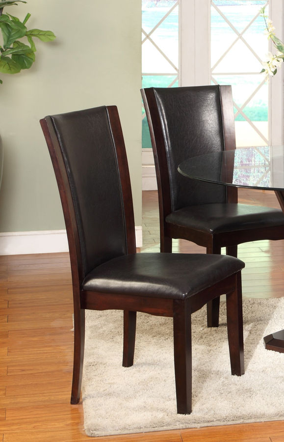 Crown Mark 2 Crown Mark Camelia Espresso Side Chairs