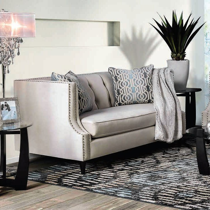 Furniture Of America Living Room Collections: Furniture Of America Tegan Loveseat (Beige)