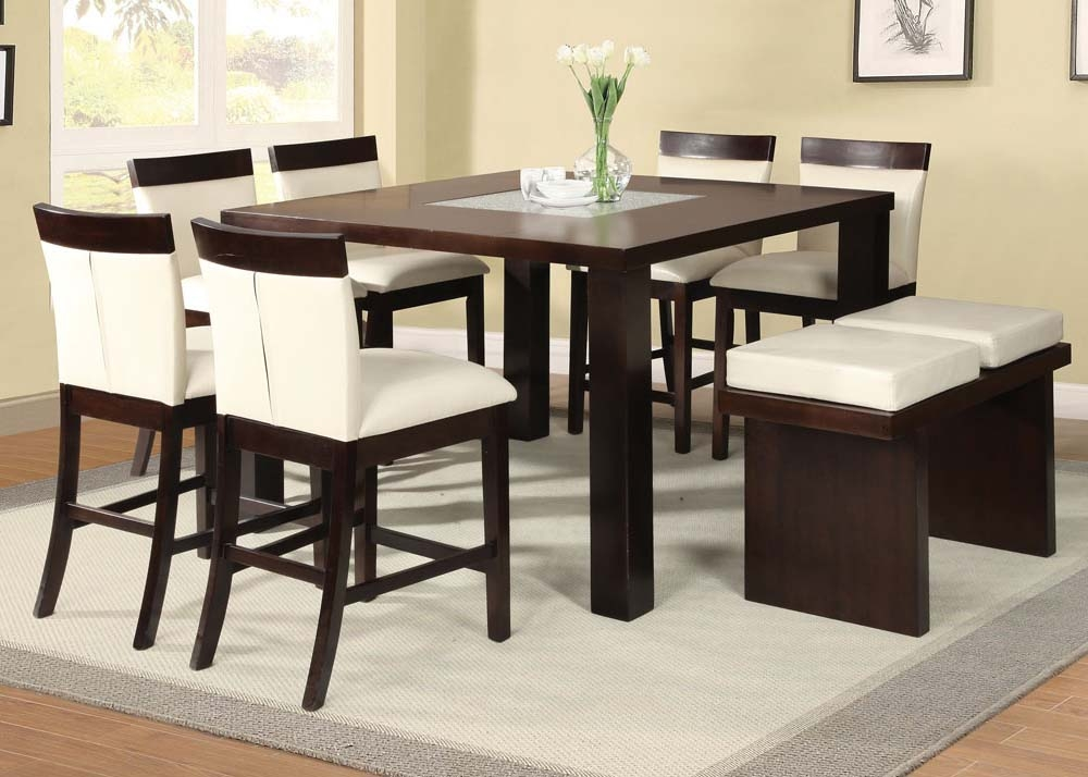 dining room counter height tables | ACME Acme Keelin 7PC Counter Height Dining Room Set with ...