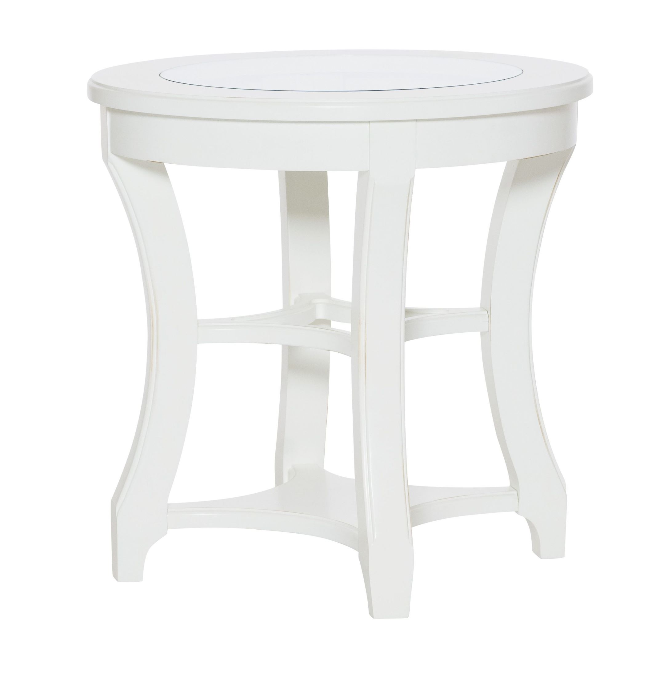 hammary lynn haven dover white round end table lynn haven collection 8 reviews. Black Bedroom Furniture Sets. Home Design Ideas