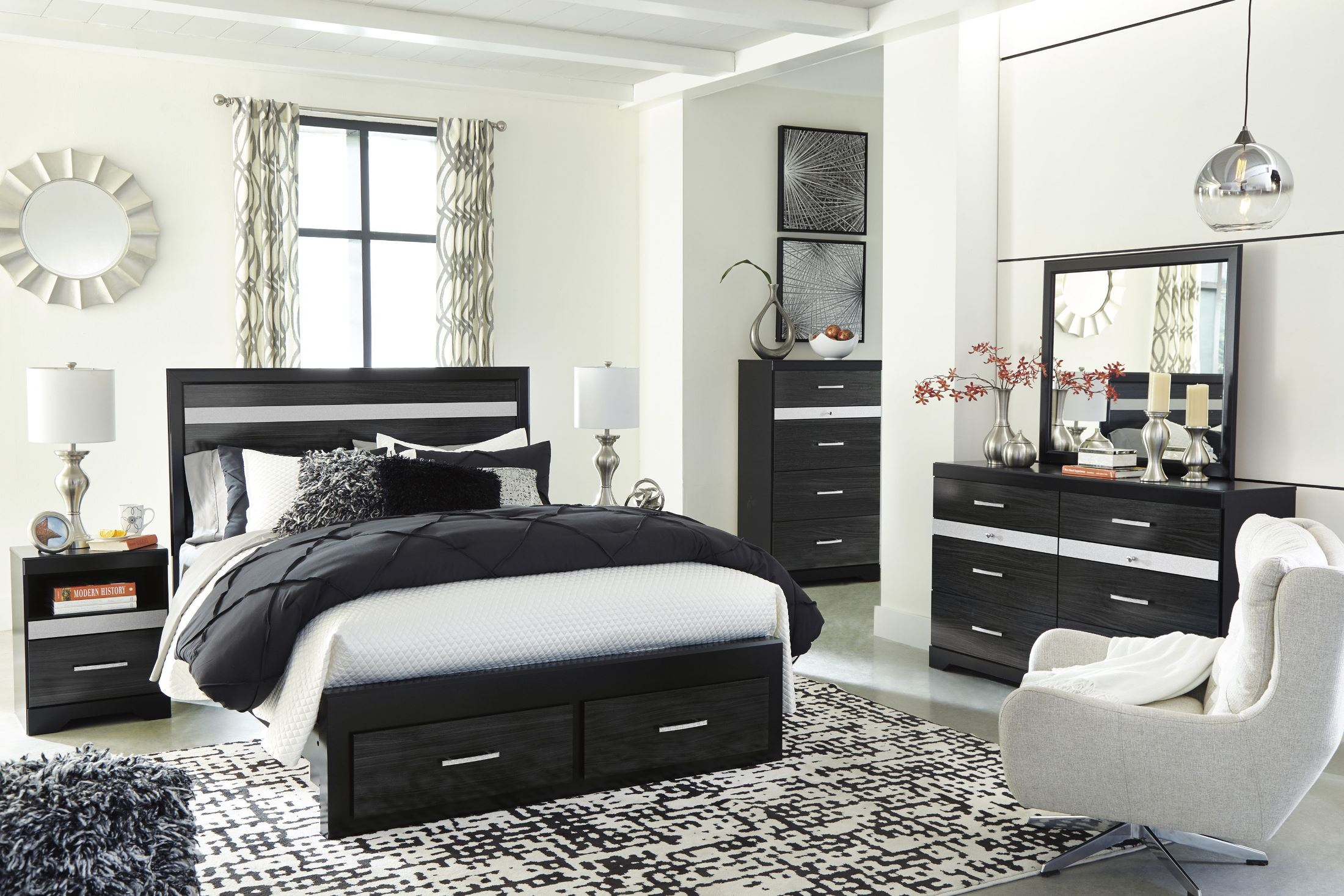 Signature Design by Ashley Starberry Black Panel Storage ...