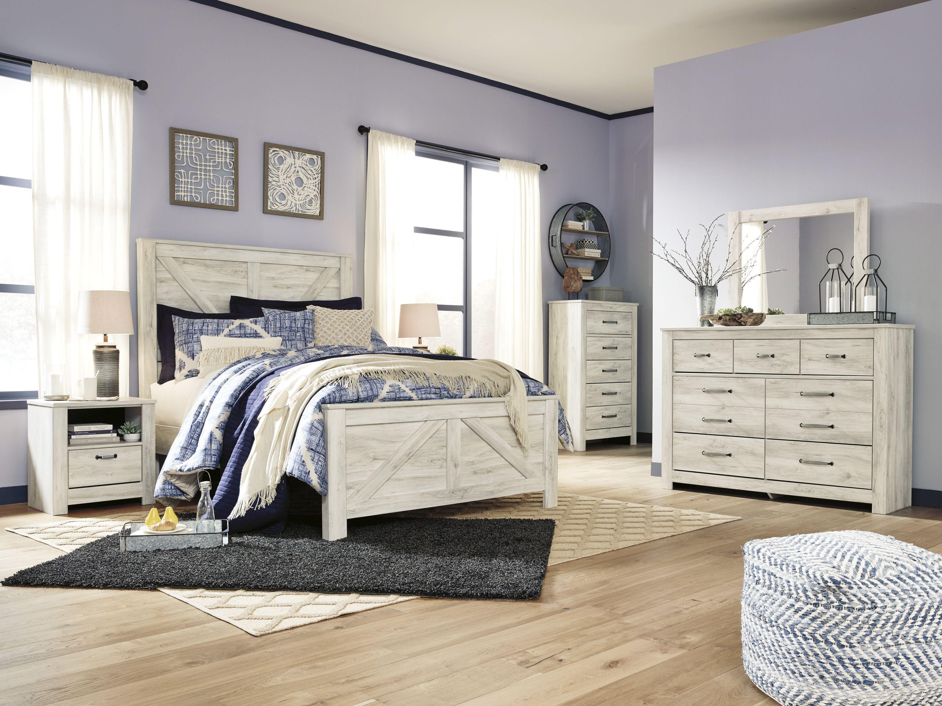 Bellaby Whitewash Panel Bedroom Set 1stopbedrooms