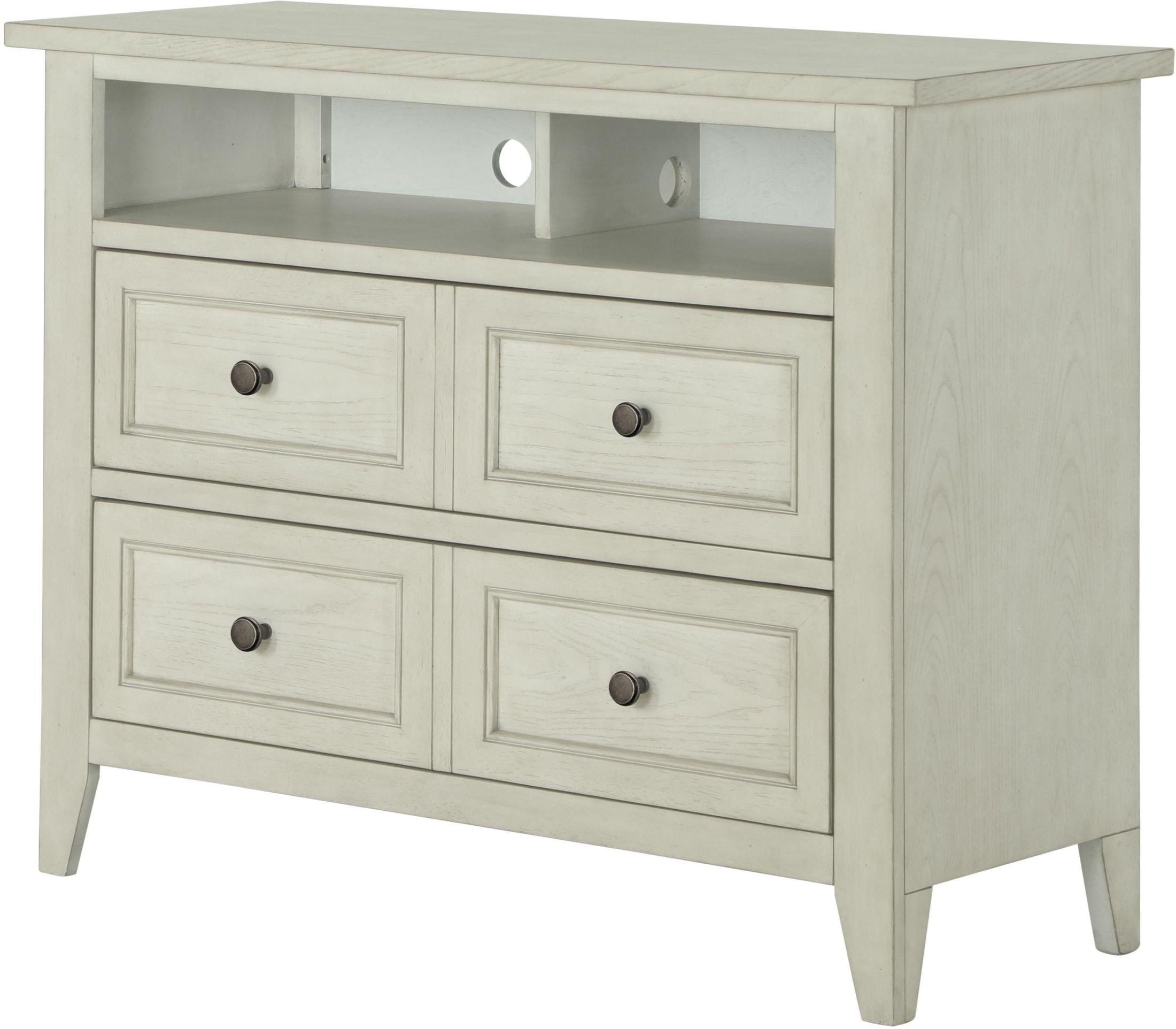 Magnussen raelynn weathered white media chest raelynn collection 6 reviews for White media chest for bedroom