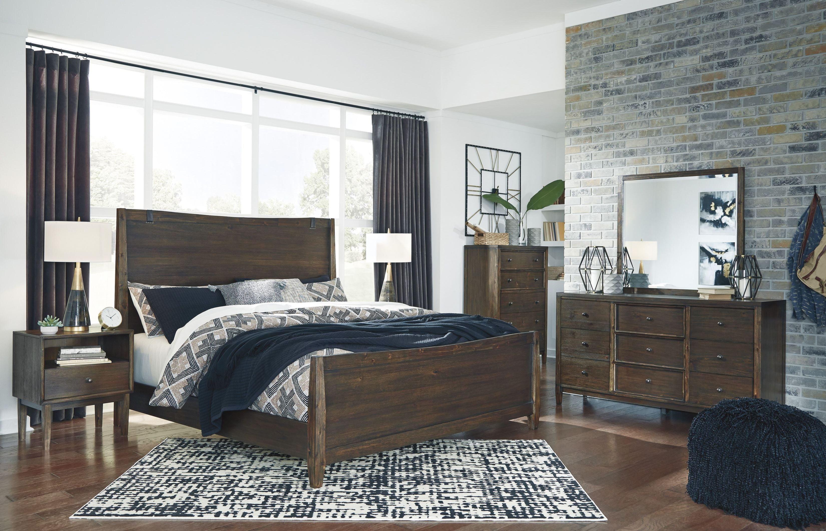 Kisper Brown Panel Bedroom Set 1stopbedrooms
