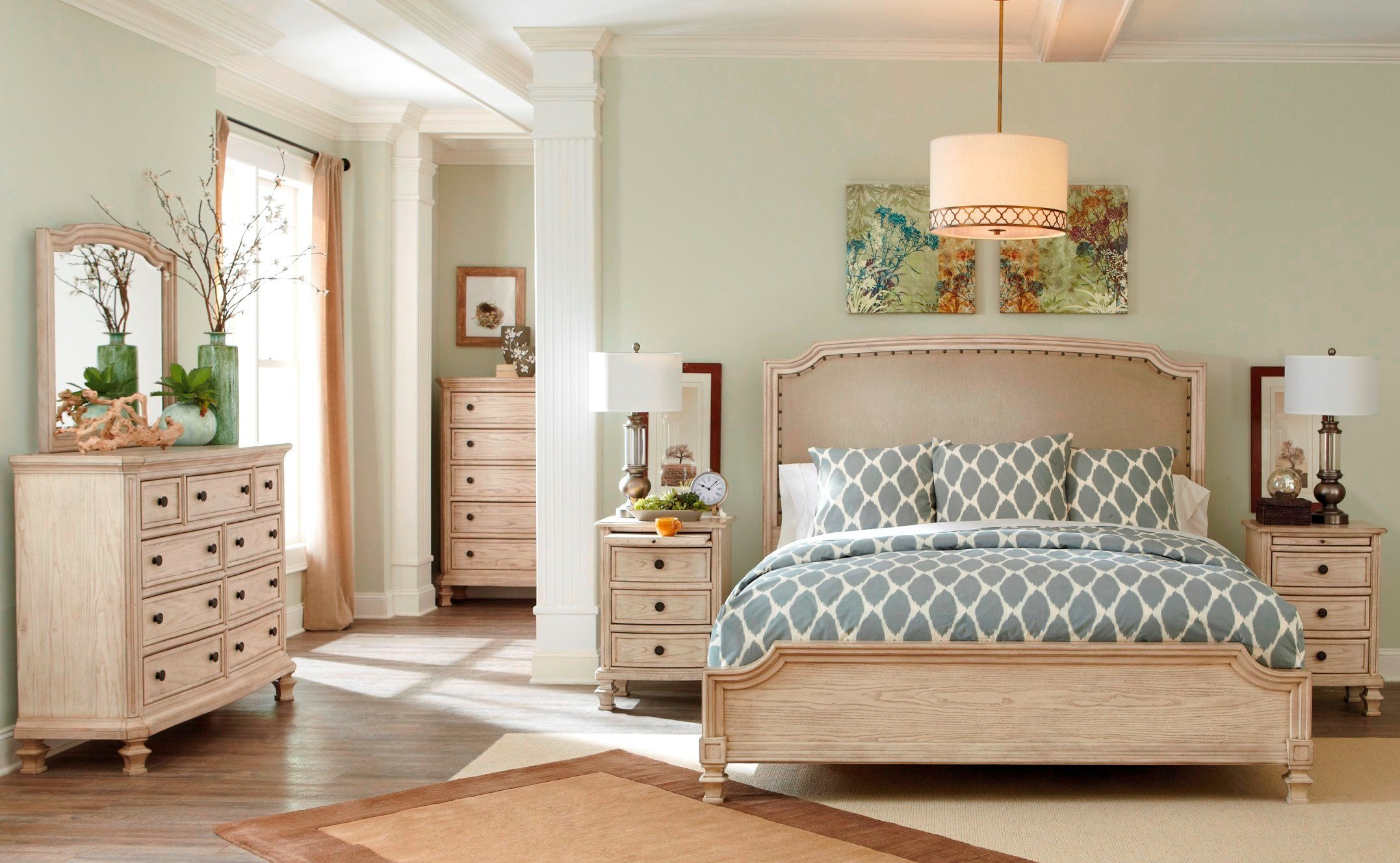 Demarlos Upholstered Panel Bedroom SetMedia Image