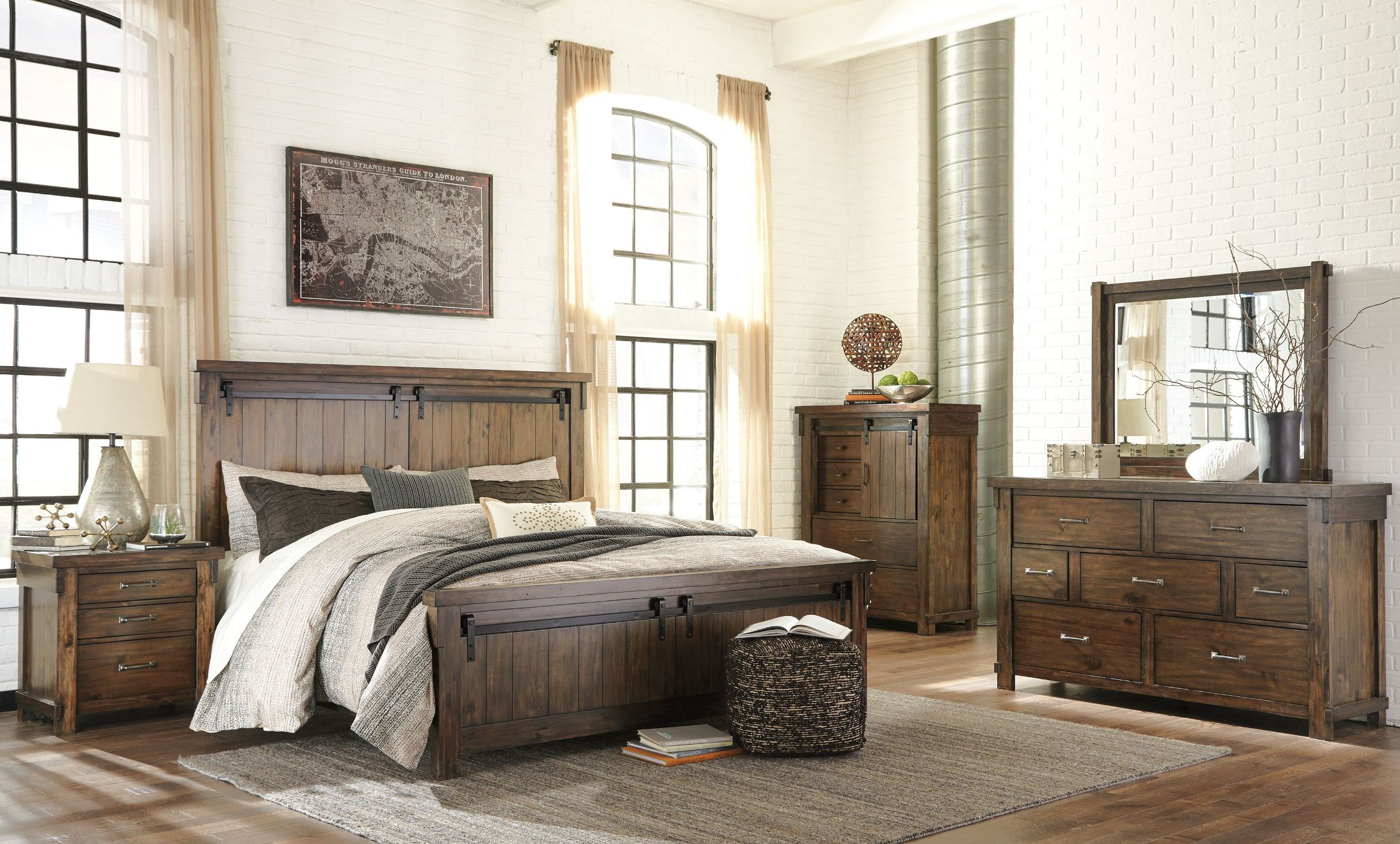 Prime Lakeleigh Brown Panel Bedroom Set Home Interior And Landscaping Spoatsignezvosmurscom