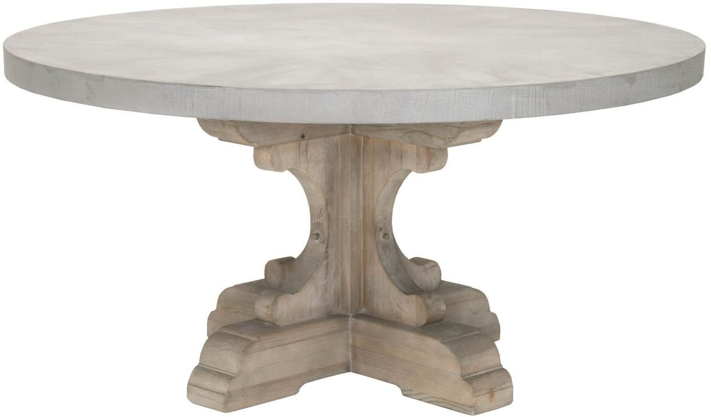 Orient Express Bastille Concrete Top Round Dining Table
