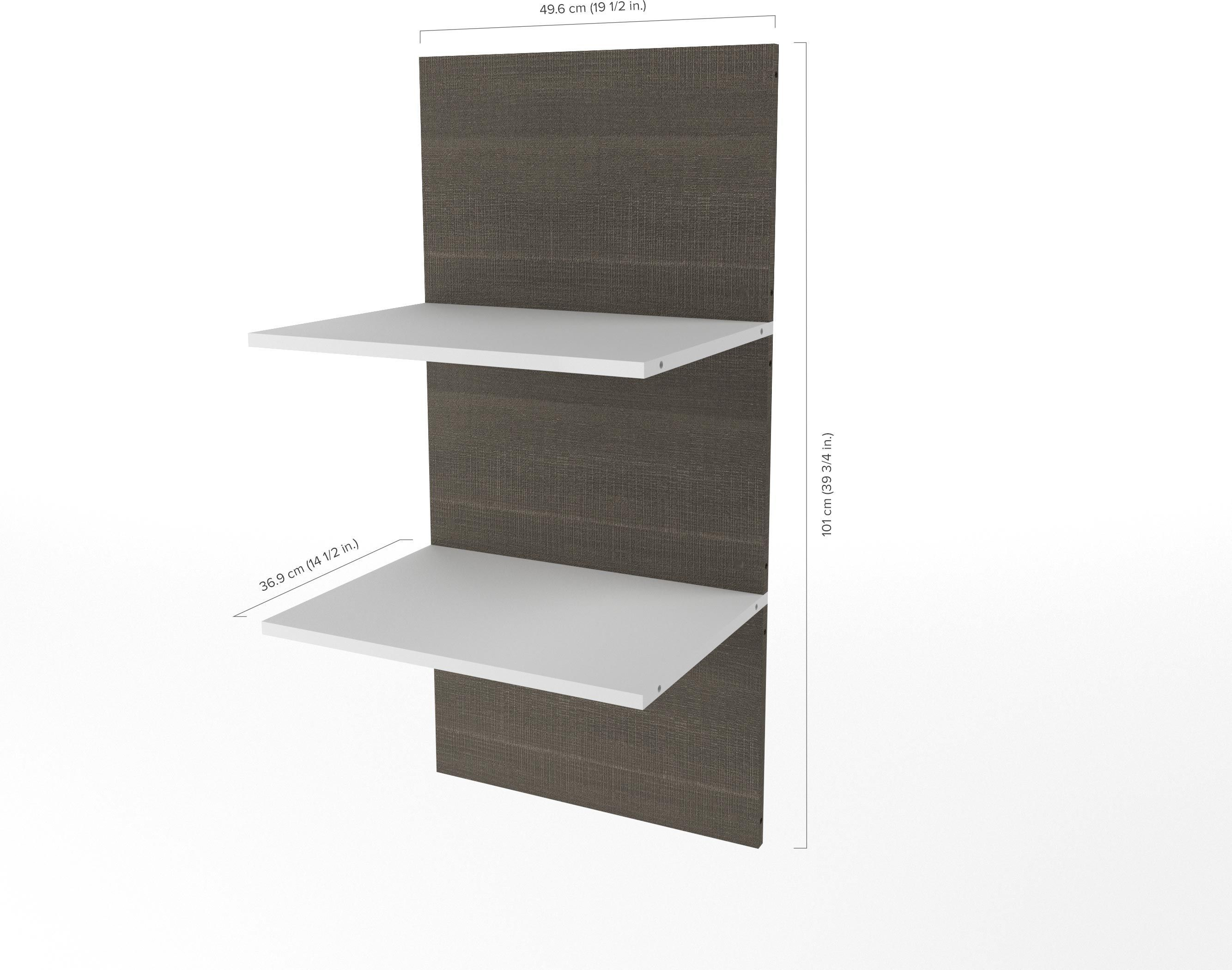 cielo by bark gray and white 2 floating shelves