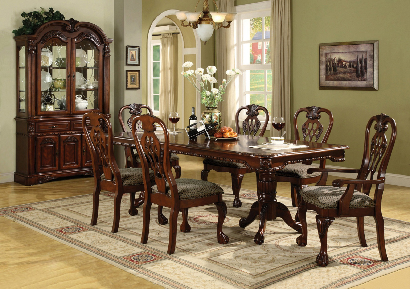 Crown Mark Crown Mark Brussels 7pc Double Pedestal Dining