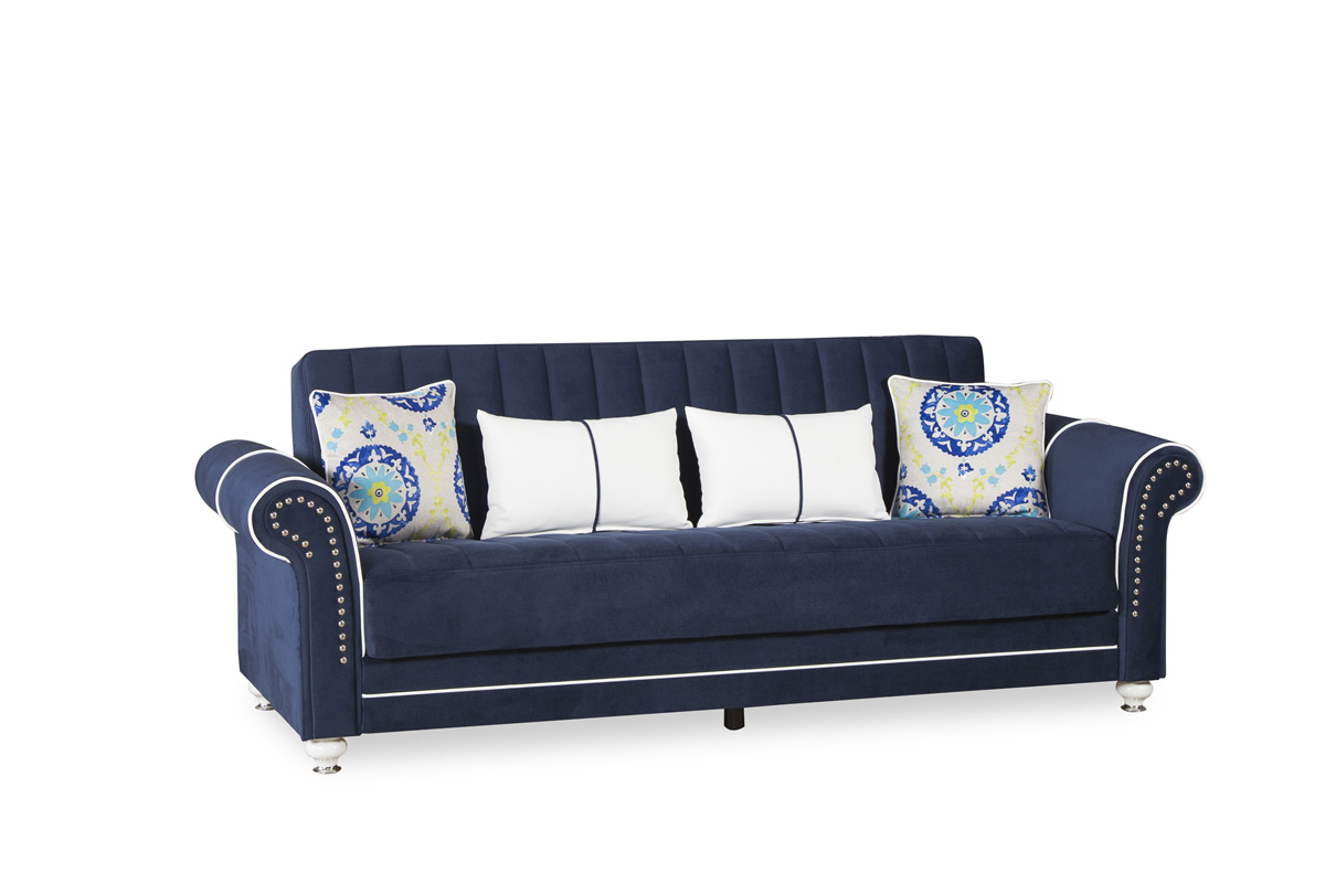 Picture of: Casamode Royal Home Riva Dark Blue Sofabed 1stopbedrooms
