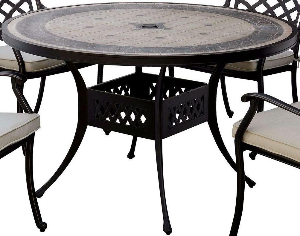 Round Table Bedroom Furniture: Furniture Of America Charissa Antique Black Round Dining