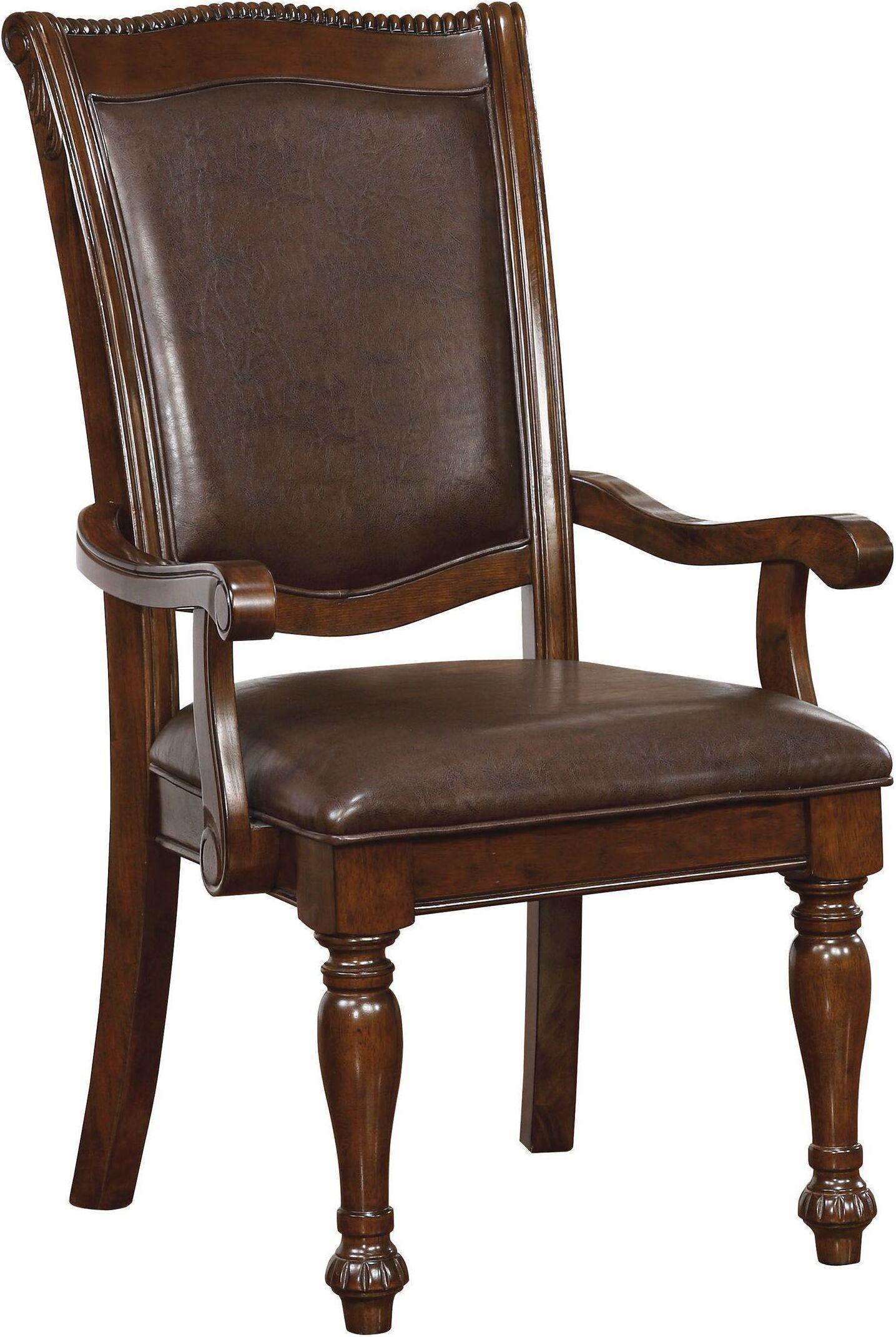 Furniture Of America Lennart Ii White Panel Bedroom Set: Furniture Of America Alpena Brown Cherry Arm Chair Set Of