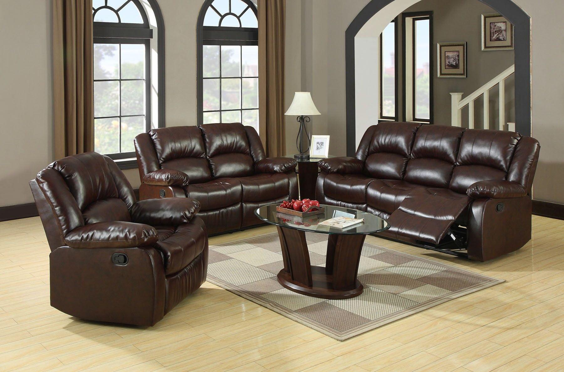 Winslow Rustic Brown Reclining Living Room Set
