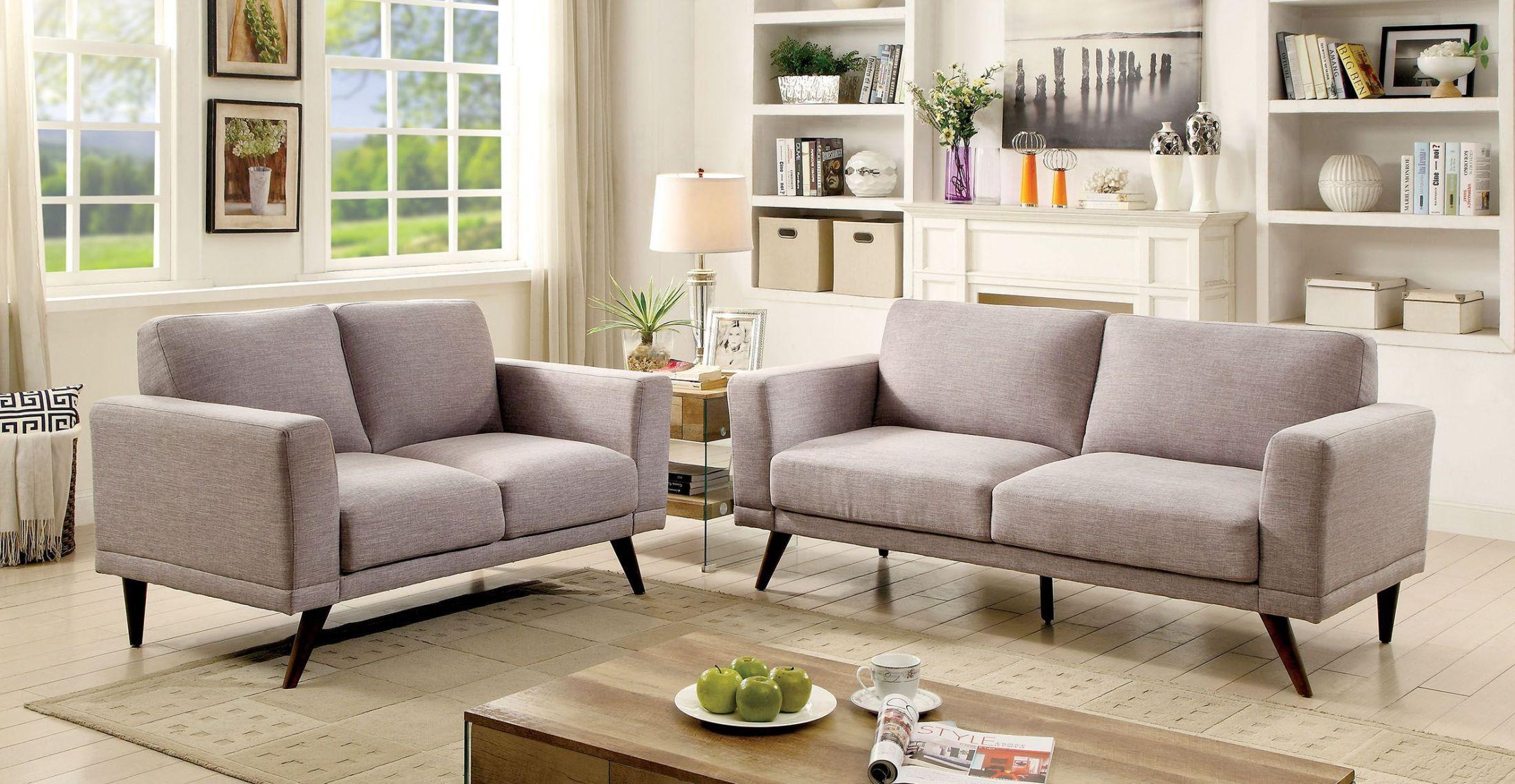Furniture Of America Janie Gray Living Room Set