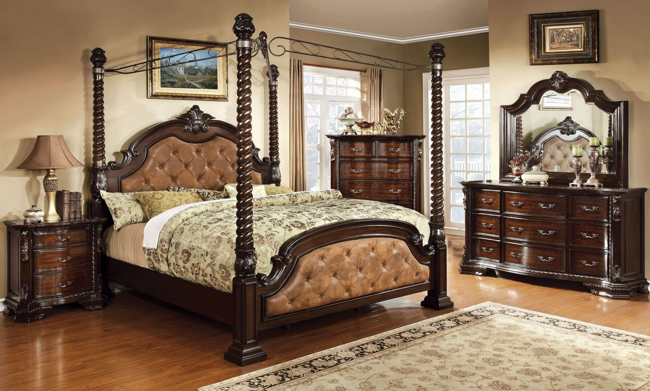 North Shore Poster Canopy Bedroom Set 1stopbedrooms