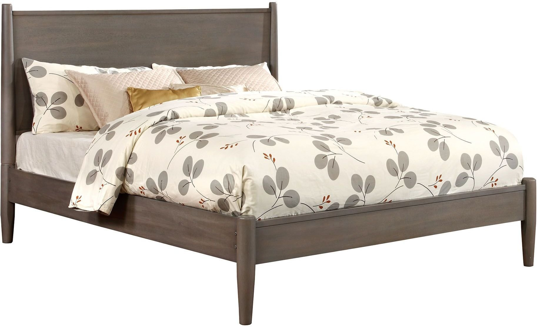 Lennart Gray Cal King Panel Bed 1stopbedrooms