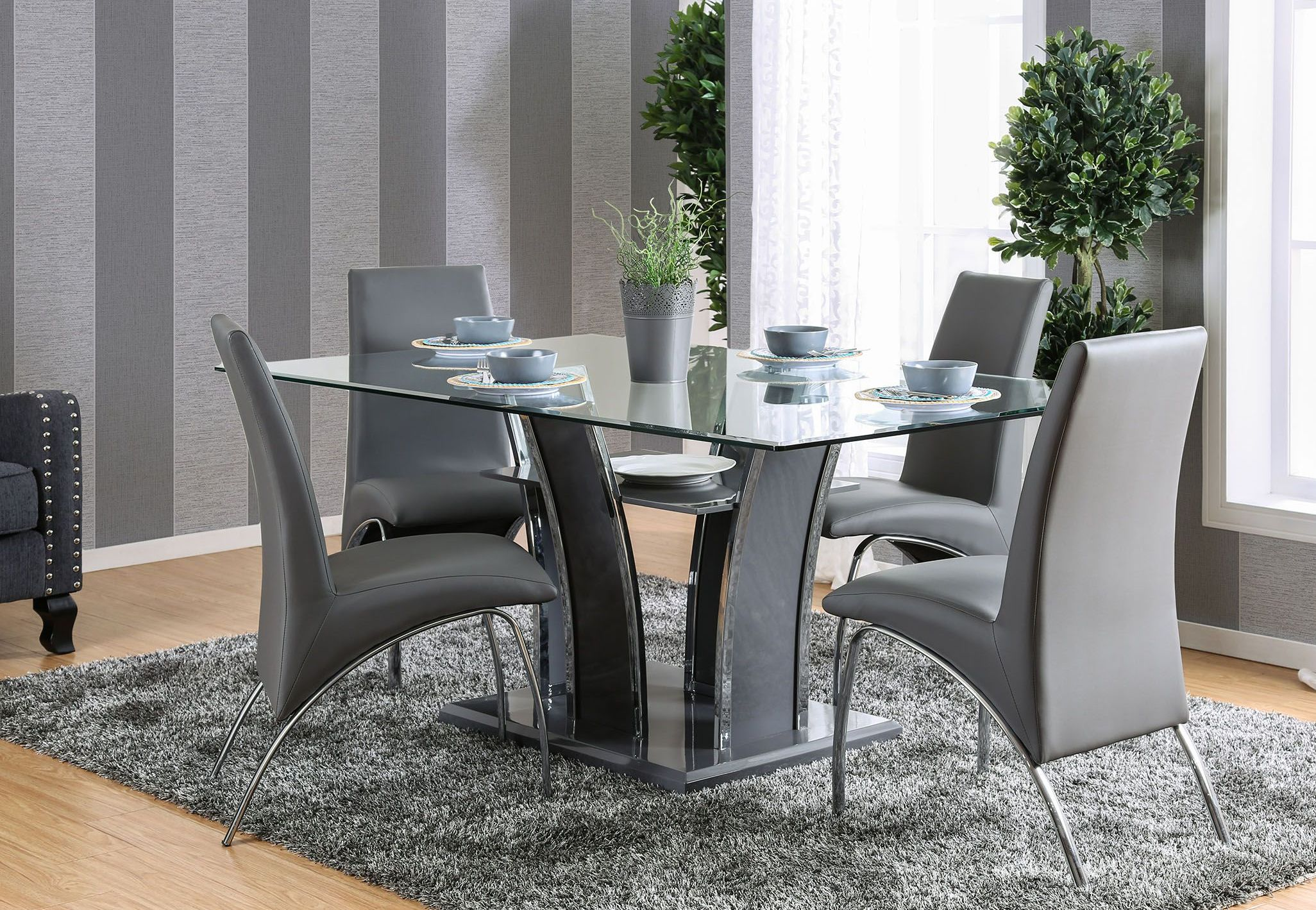 Glenview I Gray Rectangular Dining Room SetMedia Image