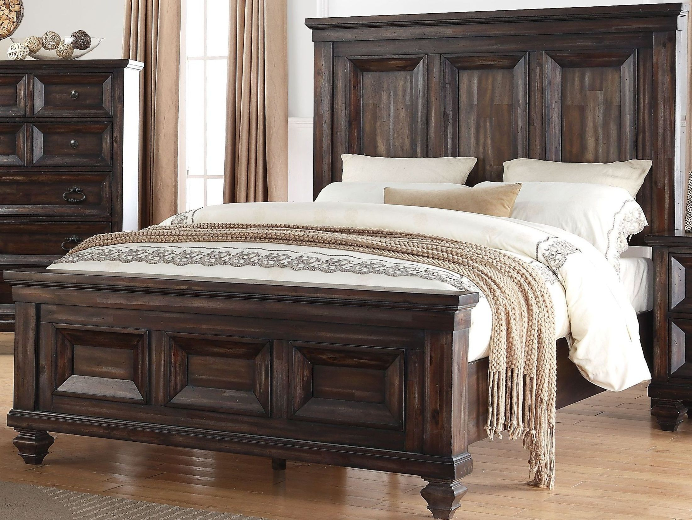 New Classic Sevilla Walnut Panel Bedroom Set   Sevilla Collection