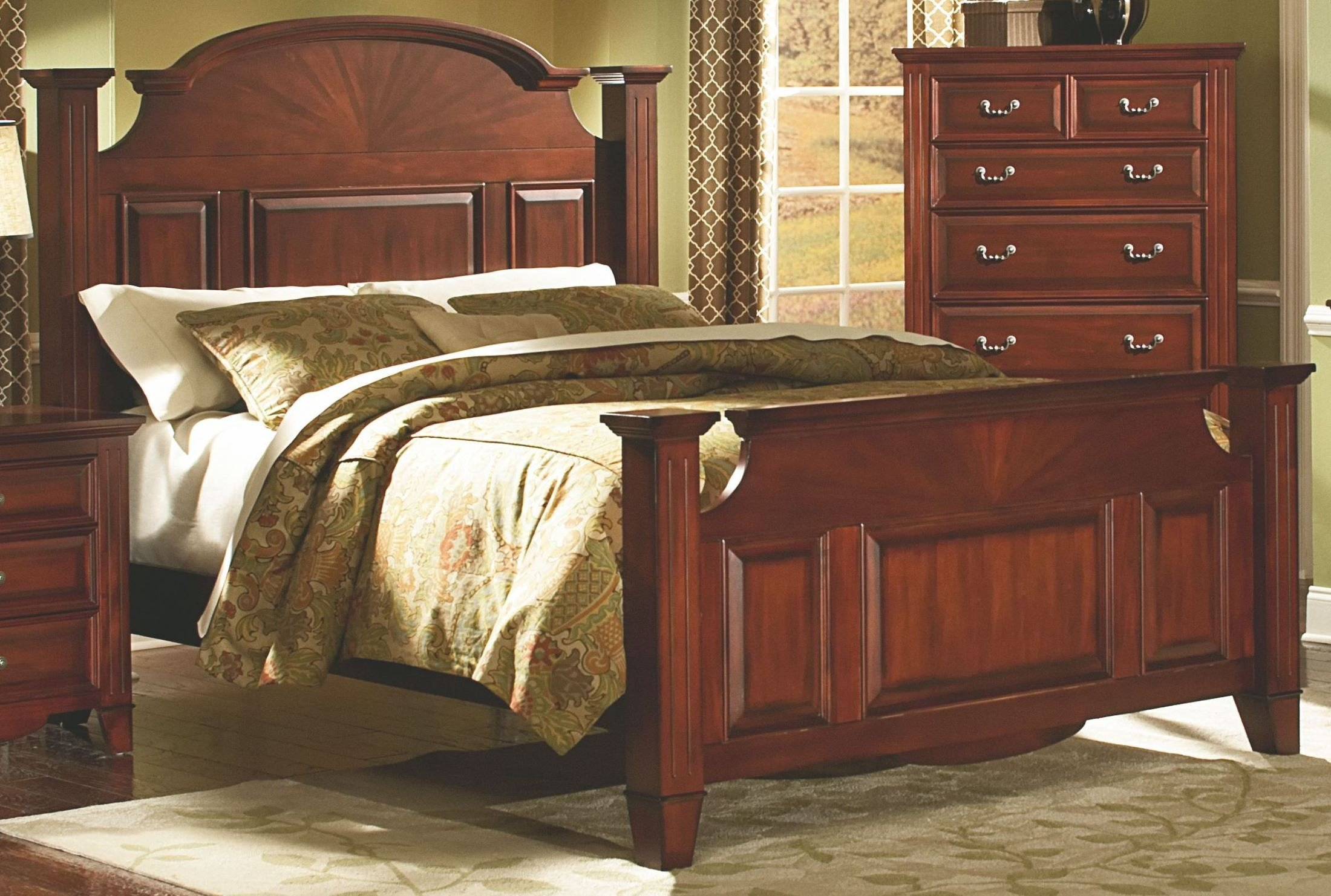 Merveilleux ... Drayton Hall Bordeaux Panel Bedroom Set Media Gallery 1 ...