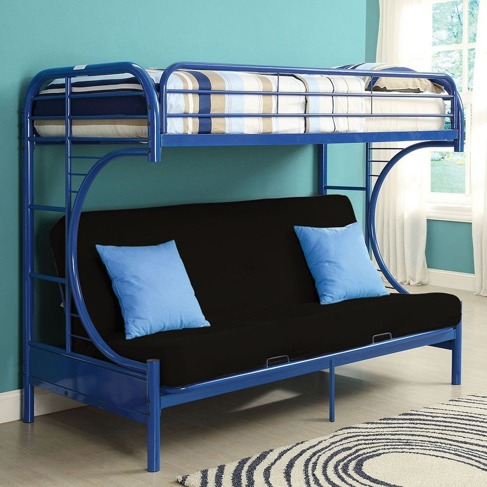 Eclipse Blue Twin Xl Over Queen Futon Bunk Bed ...