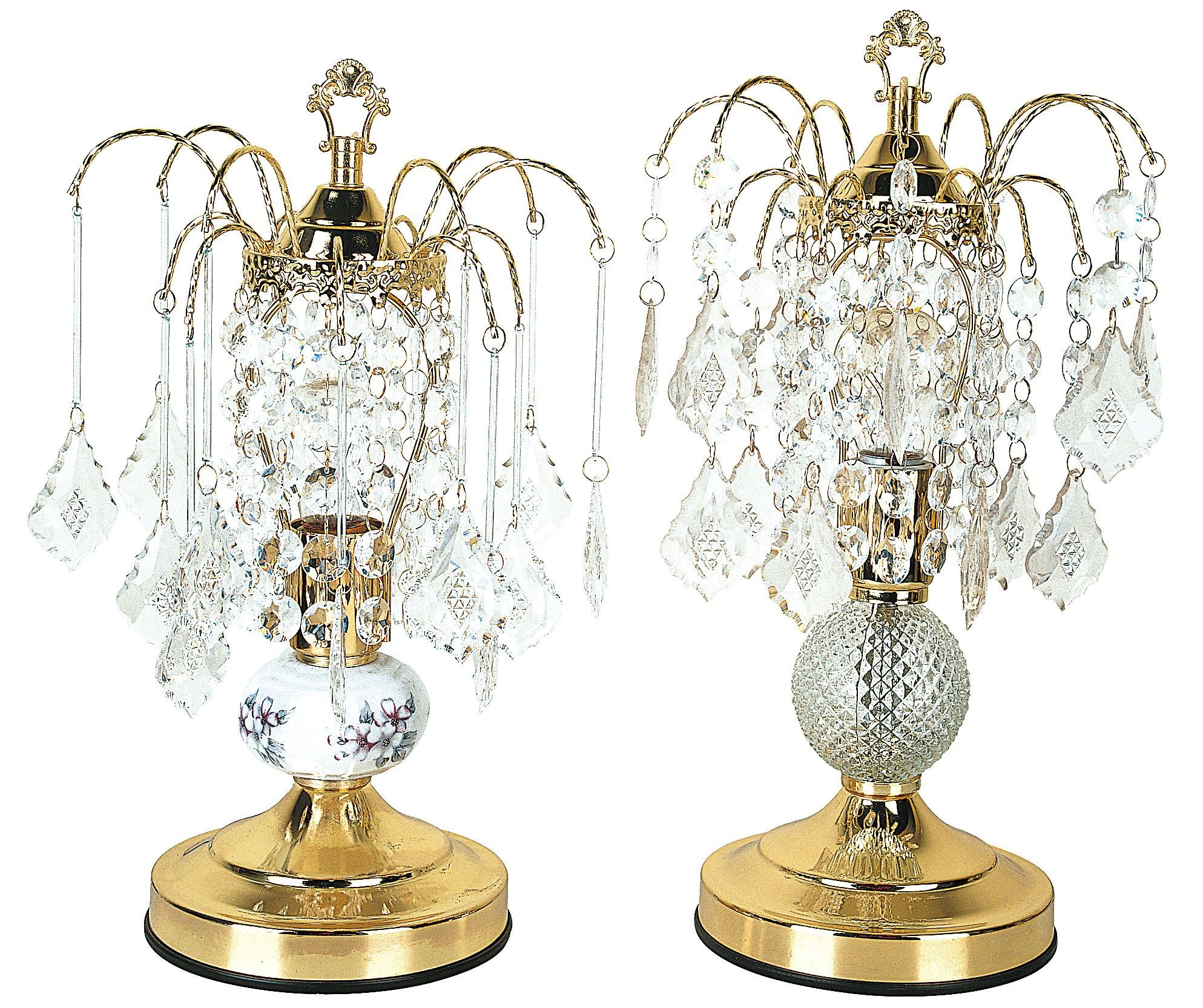 Chandelier Style Glass Touch Table Lamp Set Of 2
