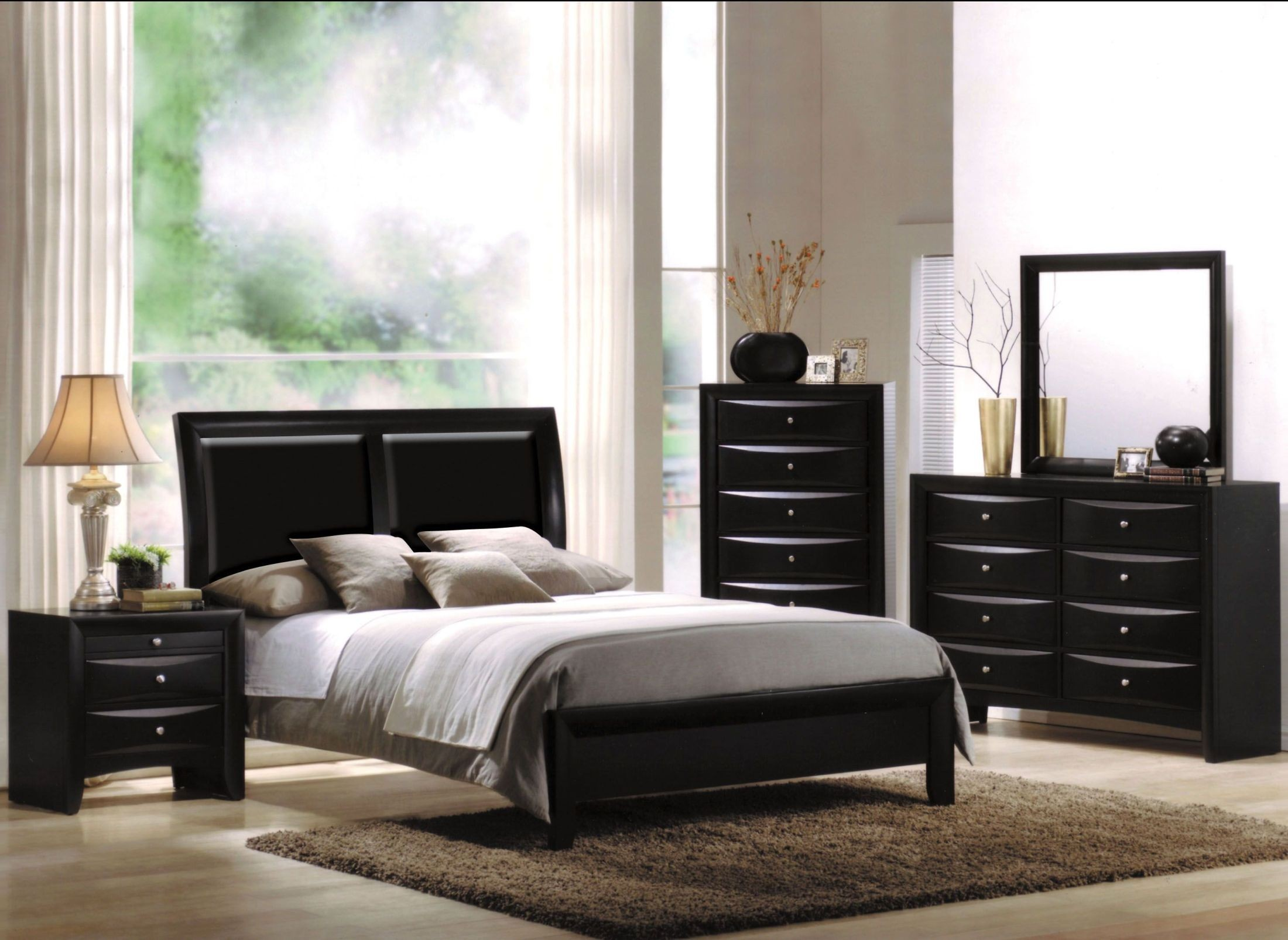 Ireland I Black Sleigh Bedroom Set