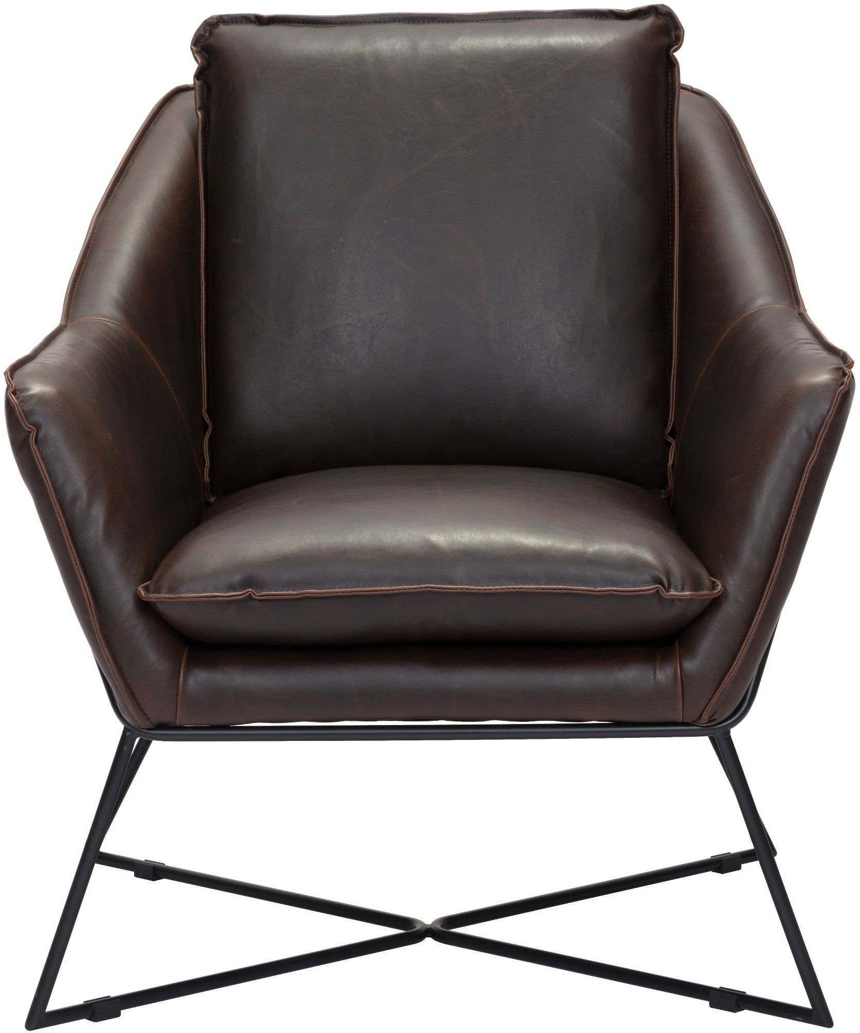Lincoln Brown Lounge Chair 1stopbedrooms