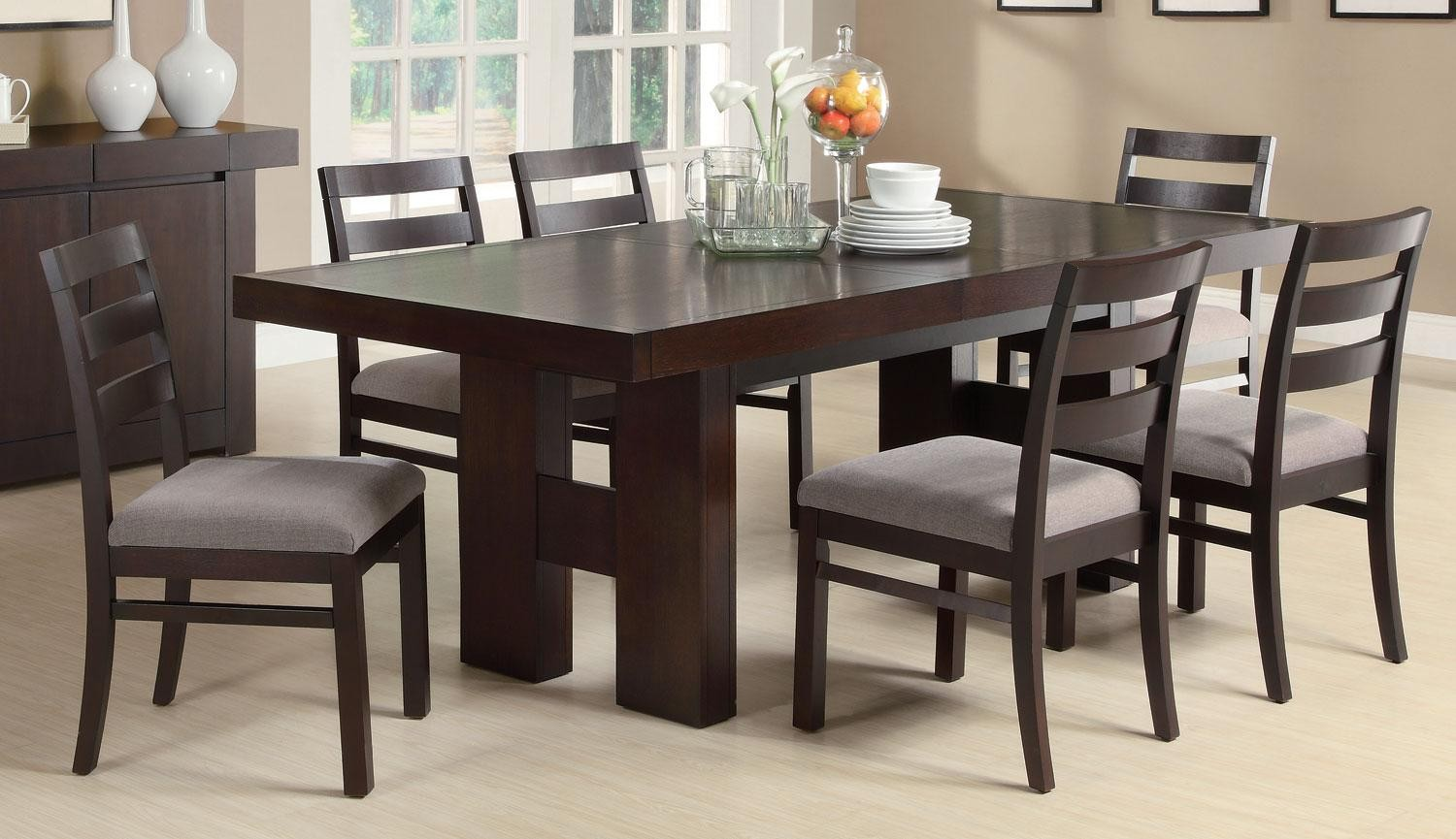 Dabny Cuccino Rectangular Dining Room Set Media Gallery 3