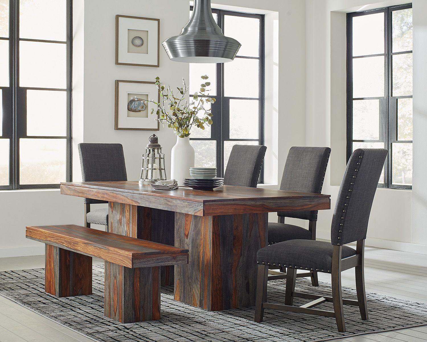 Binghamton Grey Sheesham Dining Room Set By Scott Living