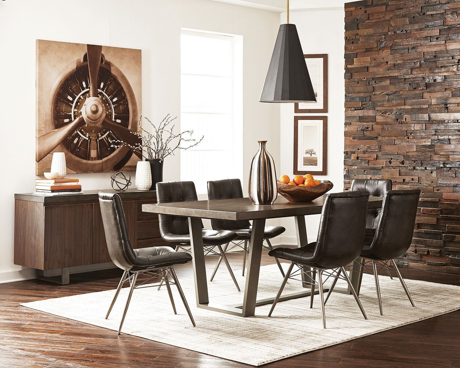 Hutchinson Aged Concrete Dining Room Set By Scott Living