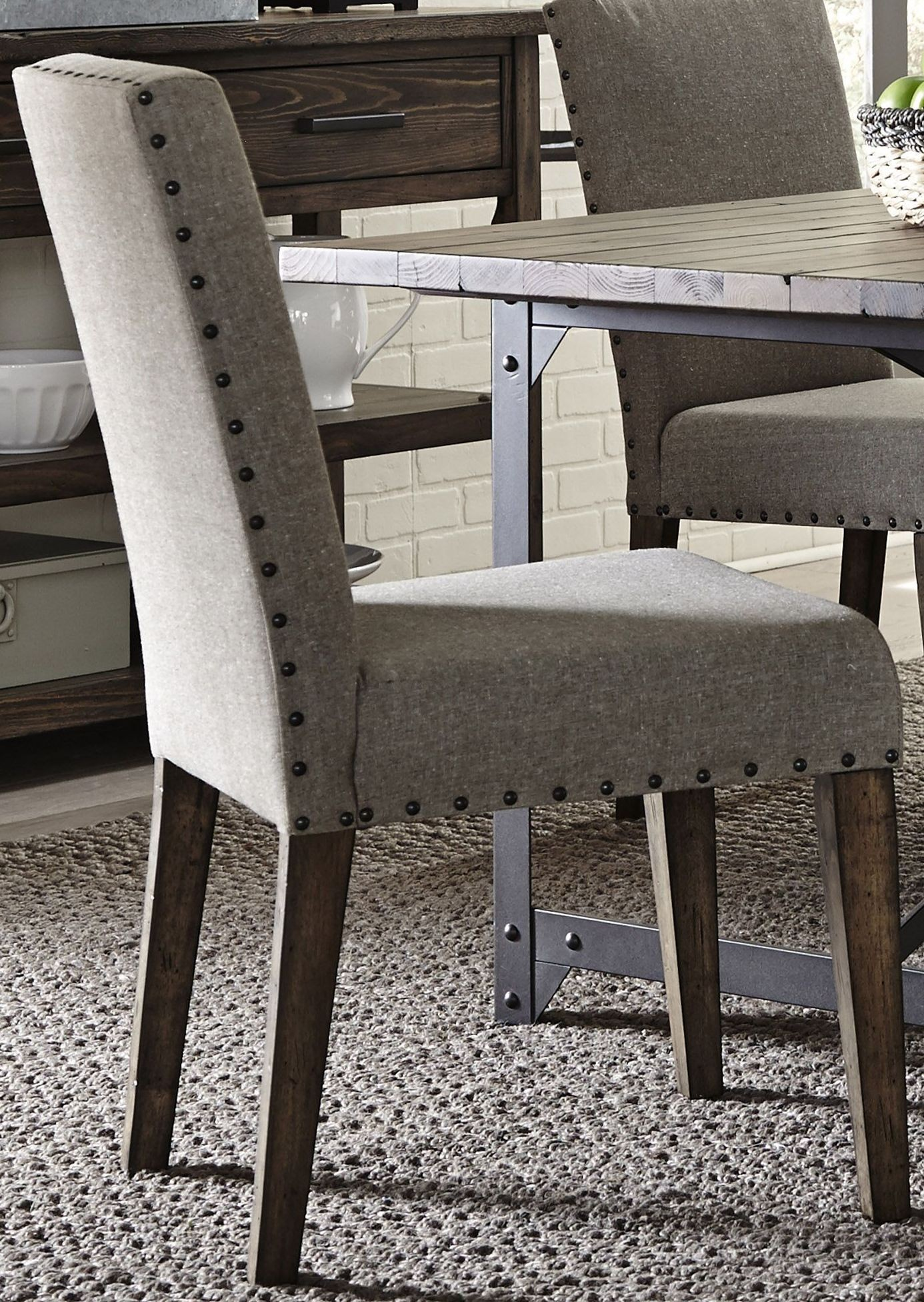 Caldwell Dining Brown Trestle Dining Room Set Media Gallery 5