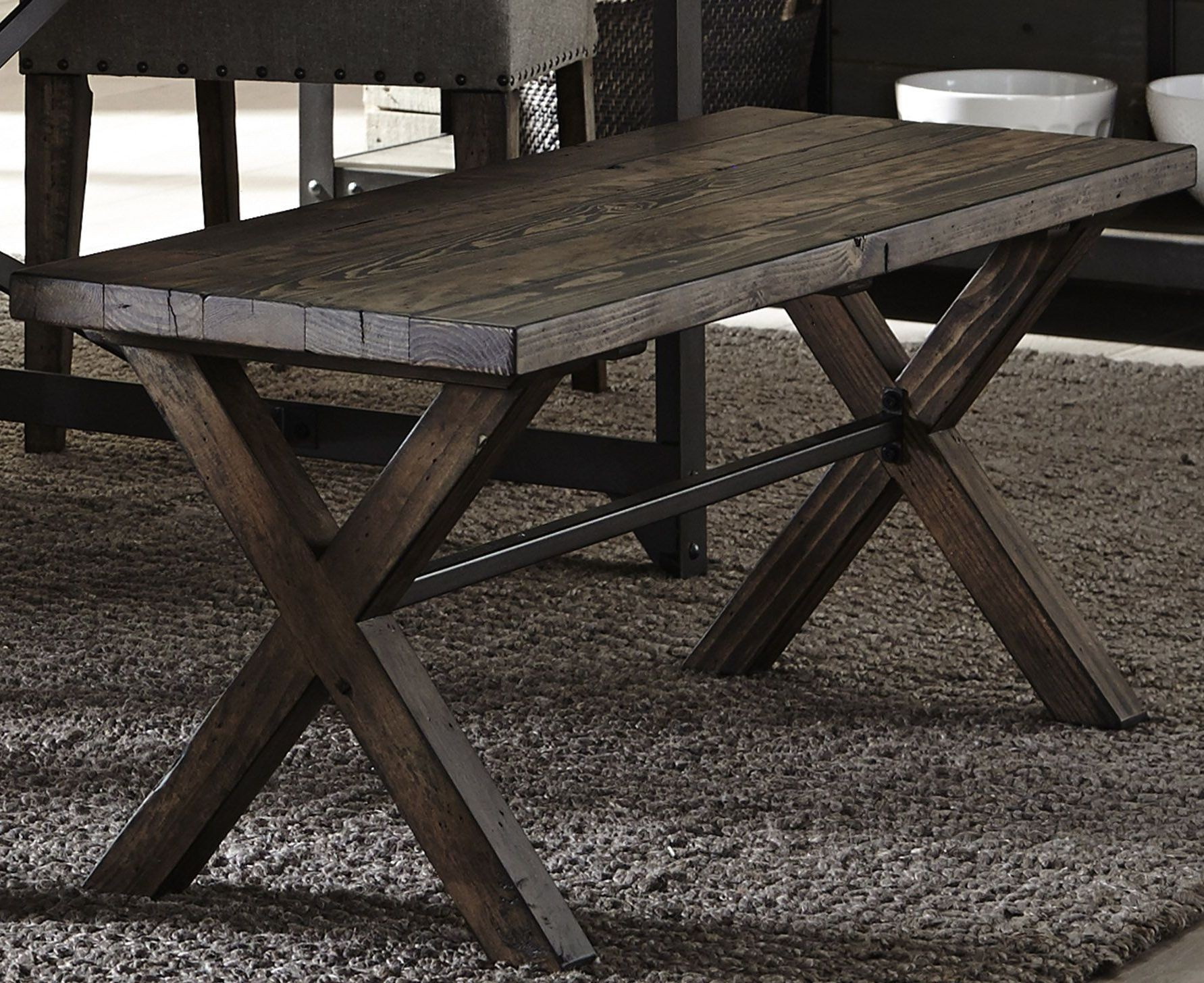 Caldwell Dining Brown Trestle Dining Room Set Media Gallery 8