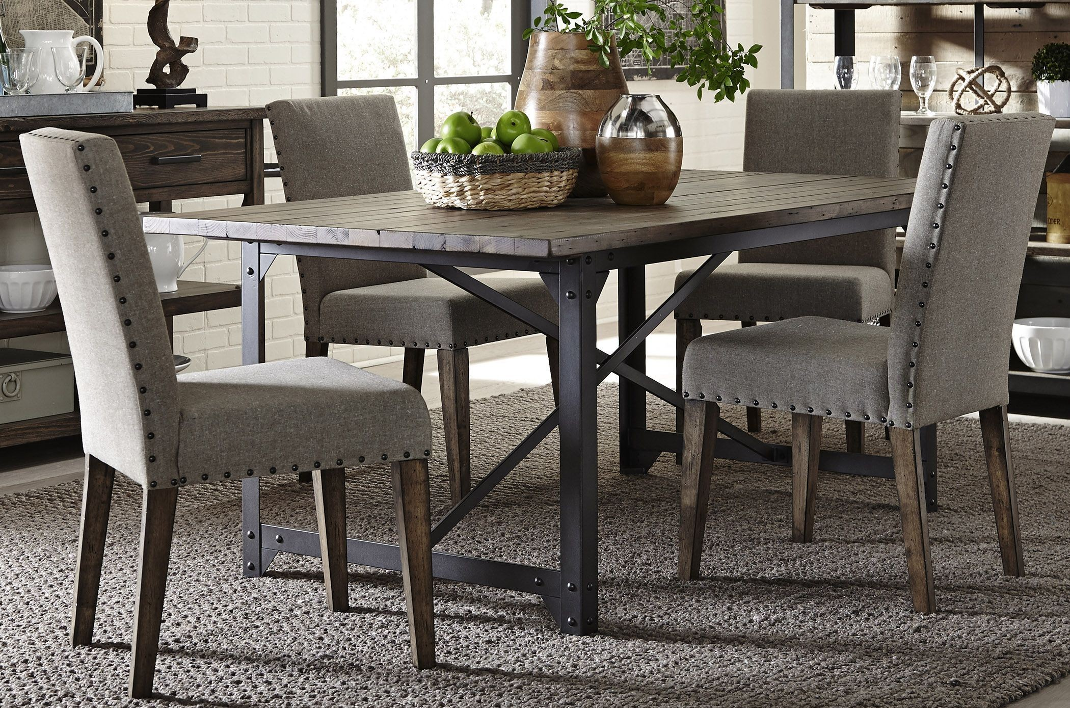Caldwell Dining Brown Trestle Dining Room Set Media Gallery 2