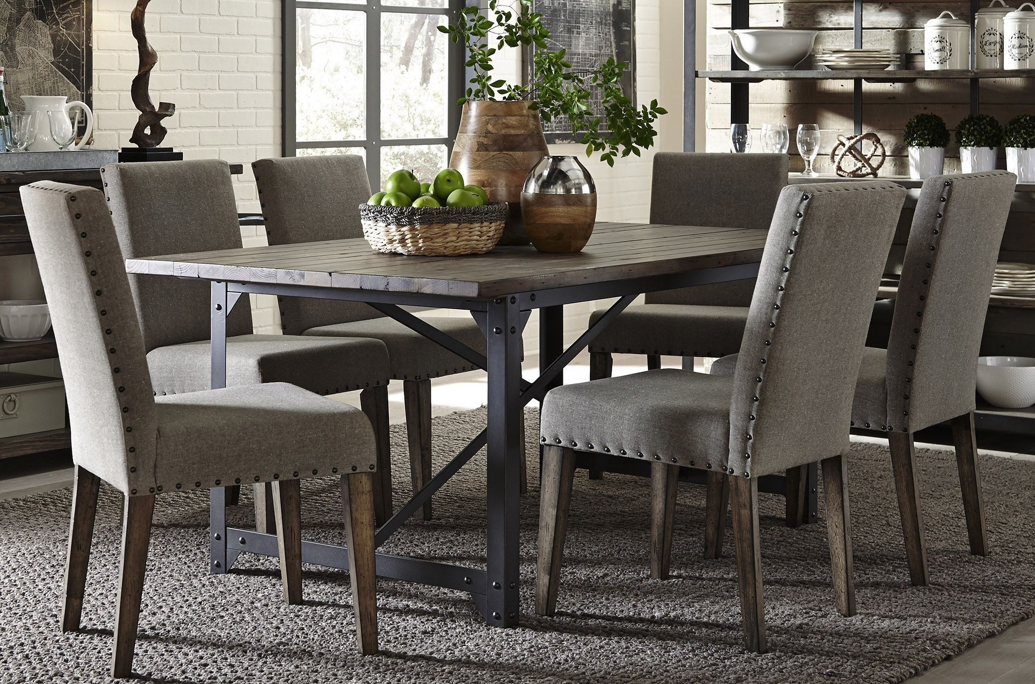 Caldwell Dining Brown Trestle Dining Room Set Media Gallery
