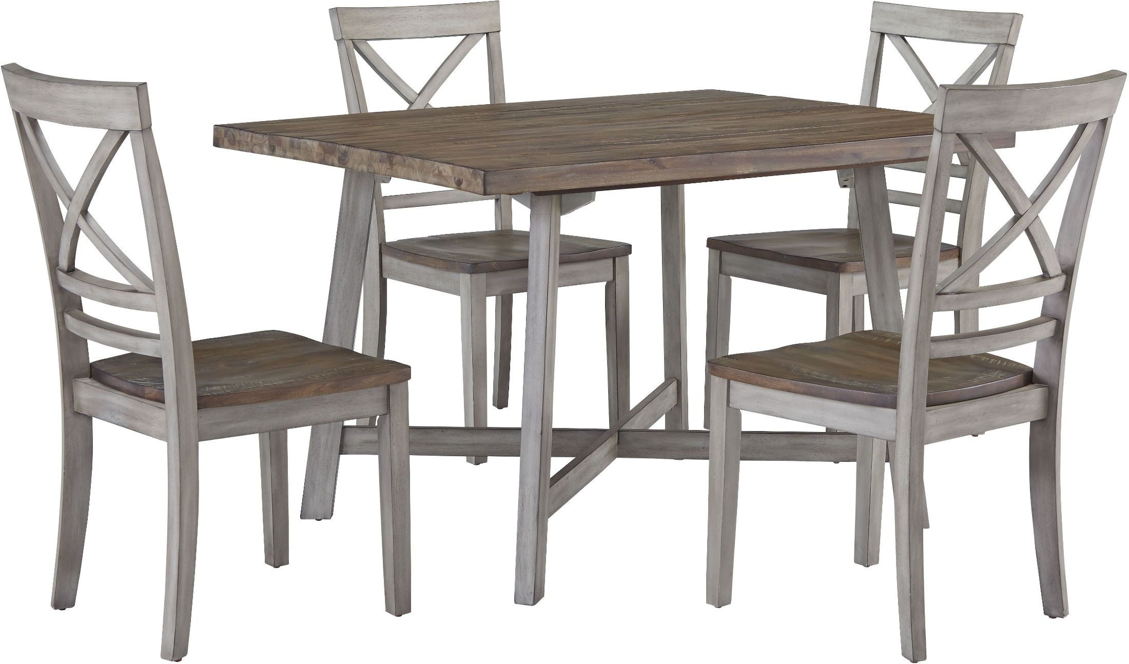 Fairhaven Rustic Grey Dining Table Set 1stopbedrooms