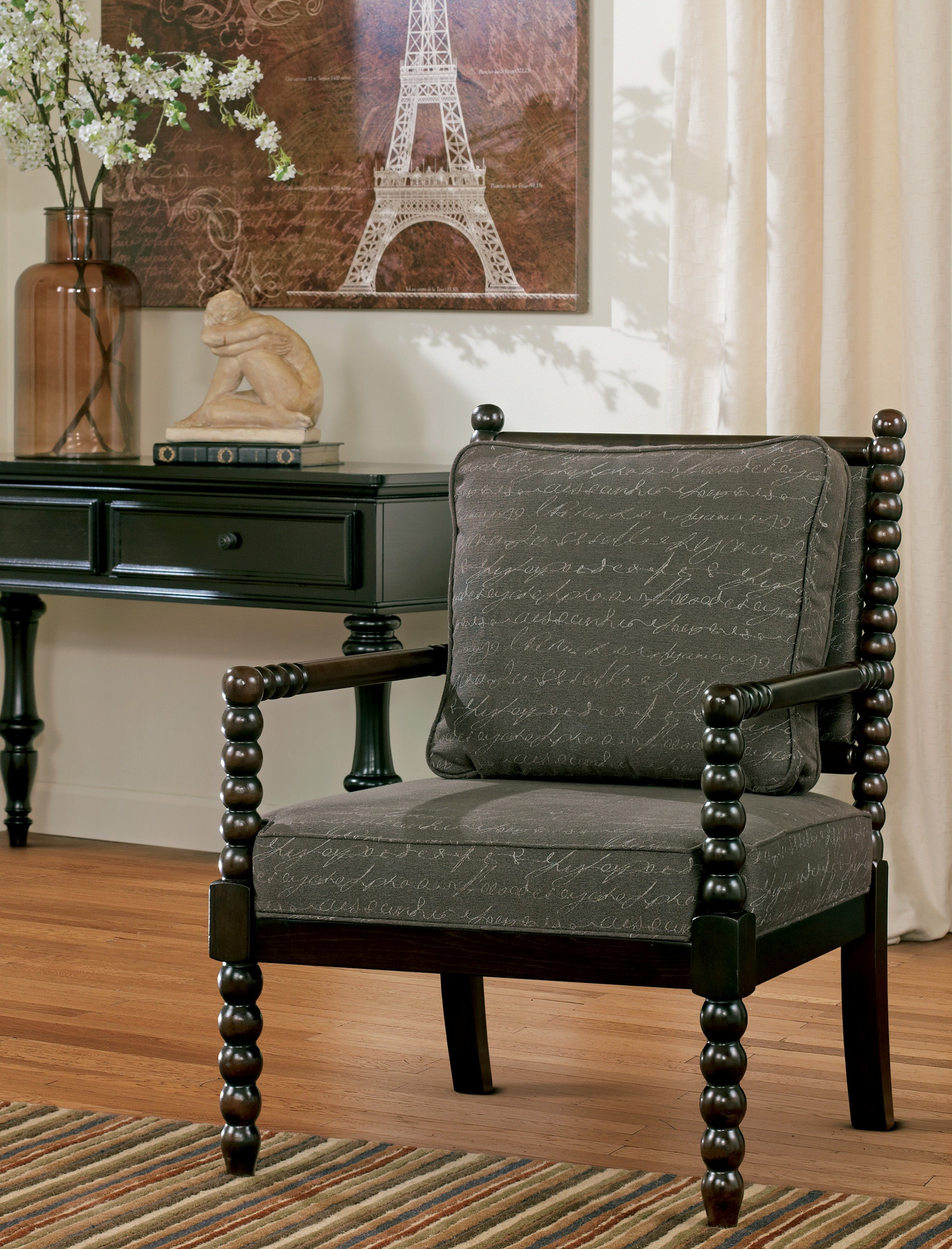 Milari Linen Rayon Accent Chair 1stopbedrooms