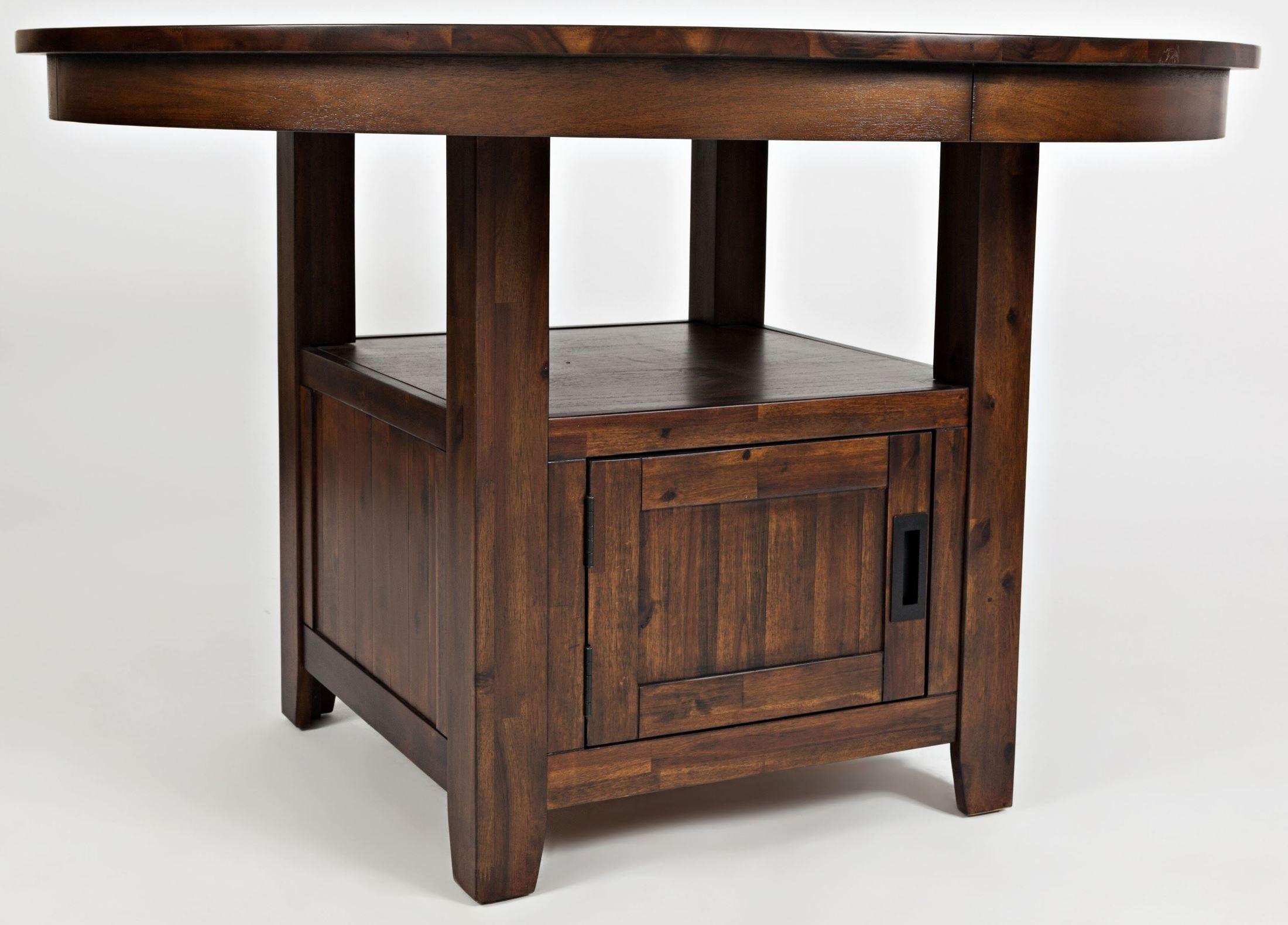Adjustable Height Round Table.Coolidge Corner 48 Adjustable Height Round Storage Dining Table