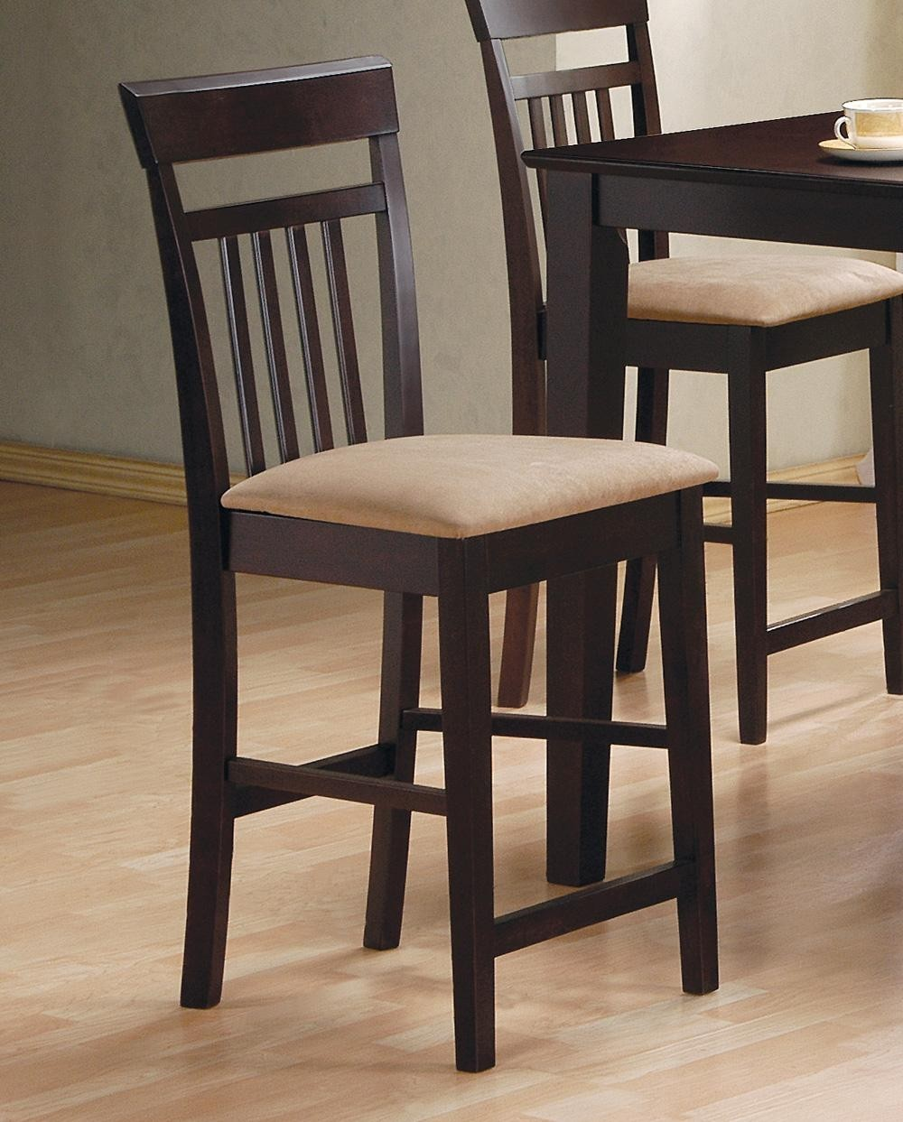 Dining Sets Black: 5 Pcs Black Counter Height Dining Set 150231BLK