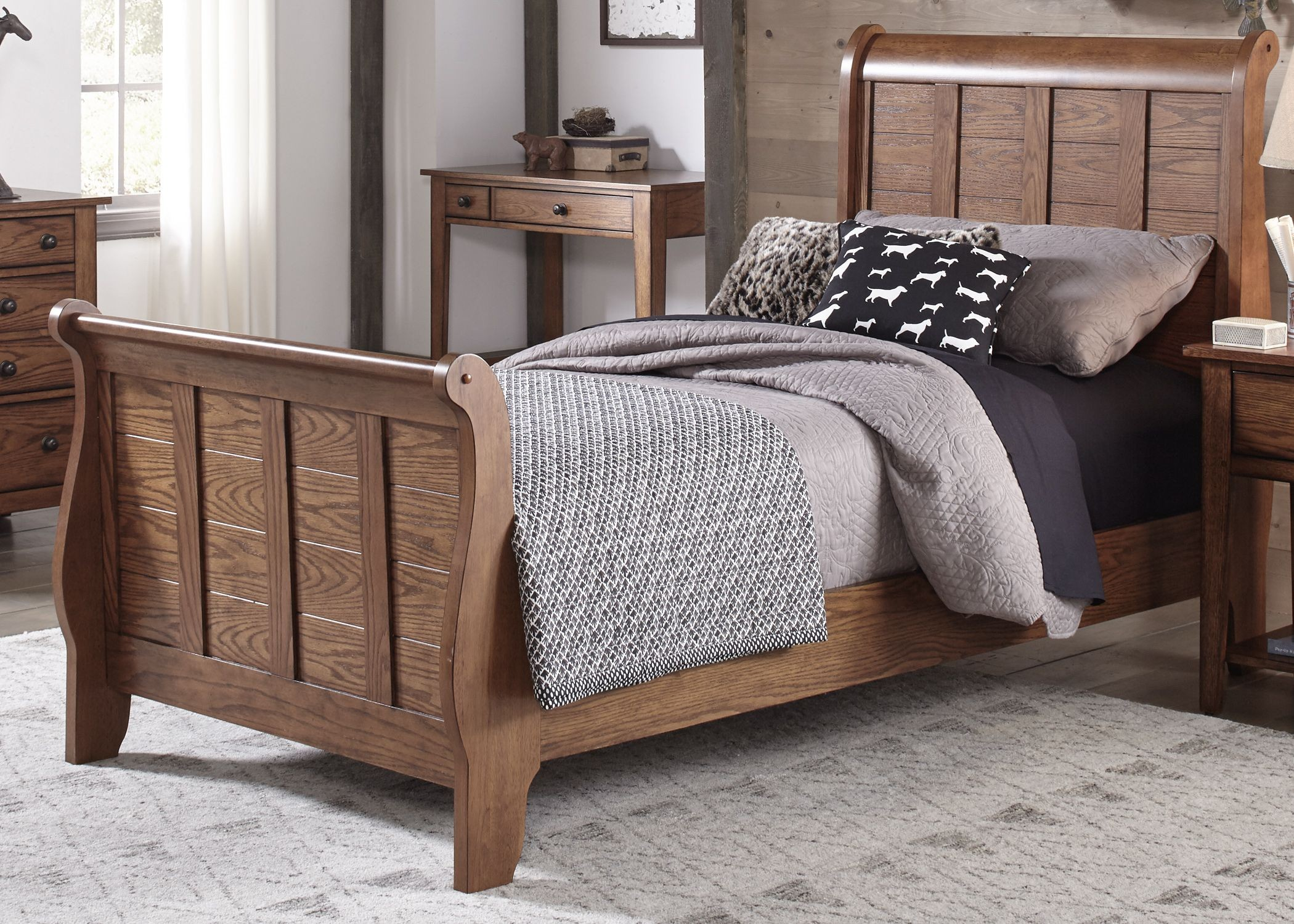 grandpas cabin youth sleigh bedroom set  1stopbedrooms