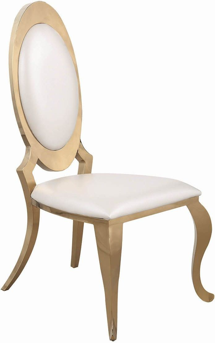 a5bdf517d8a8 ... Kendall Gold And White Dining Room Set Media Gallery 3