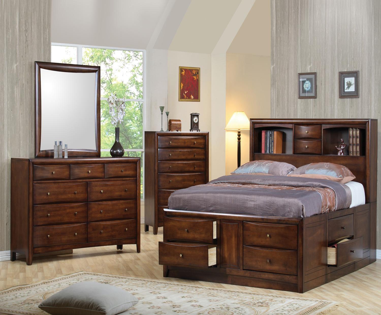 Hillary Bookcase Storage Bedroom Set - 200609