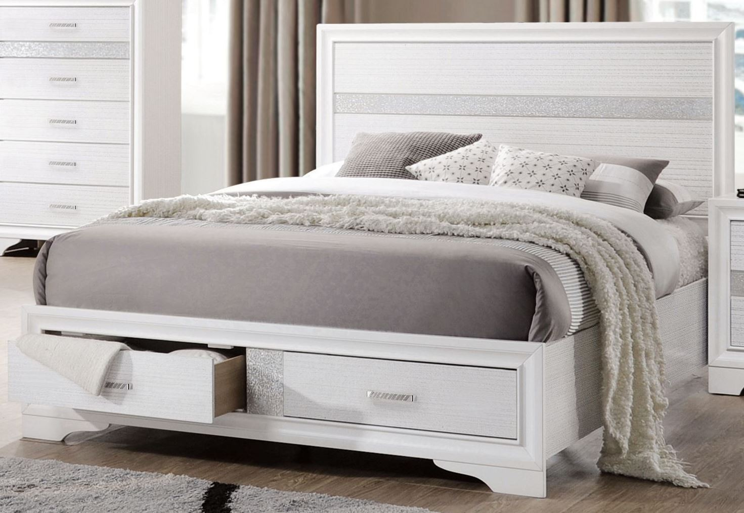 Miranda White Storage Platform Bedroom Set Media Gallery 1